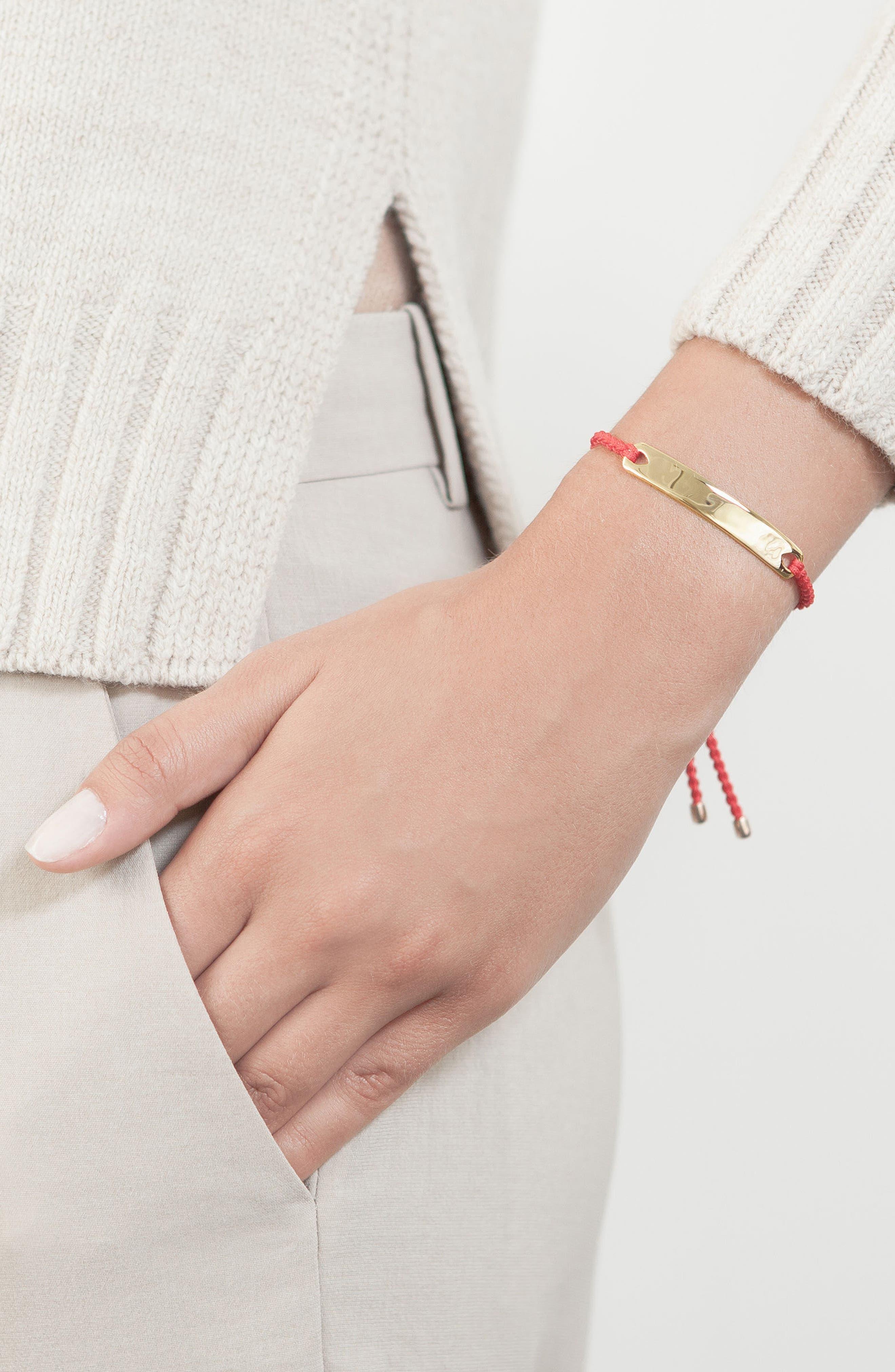 Engravable HavanaFriendship Bracelet,                             Alternate thumbnail 6, color,                             ROSE GOLD/ MINK