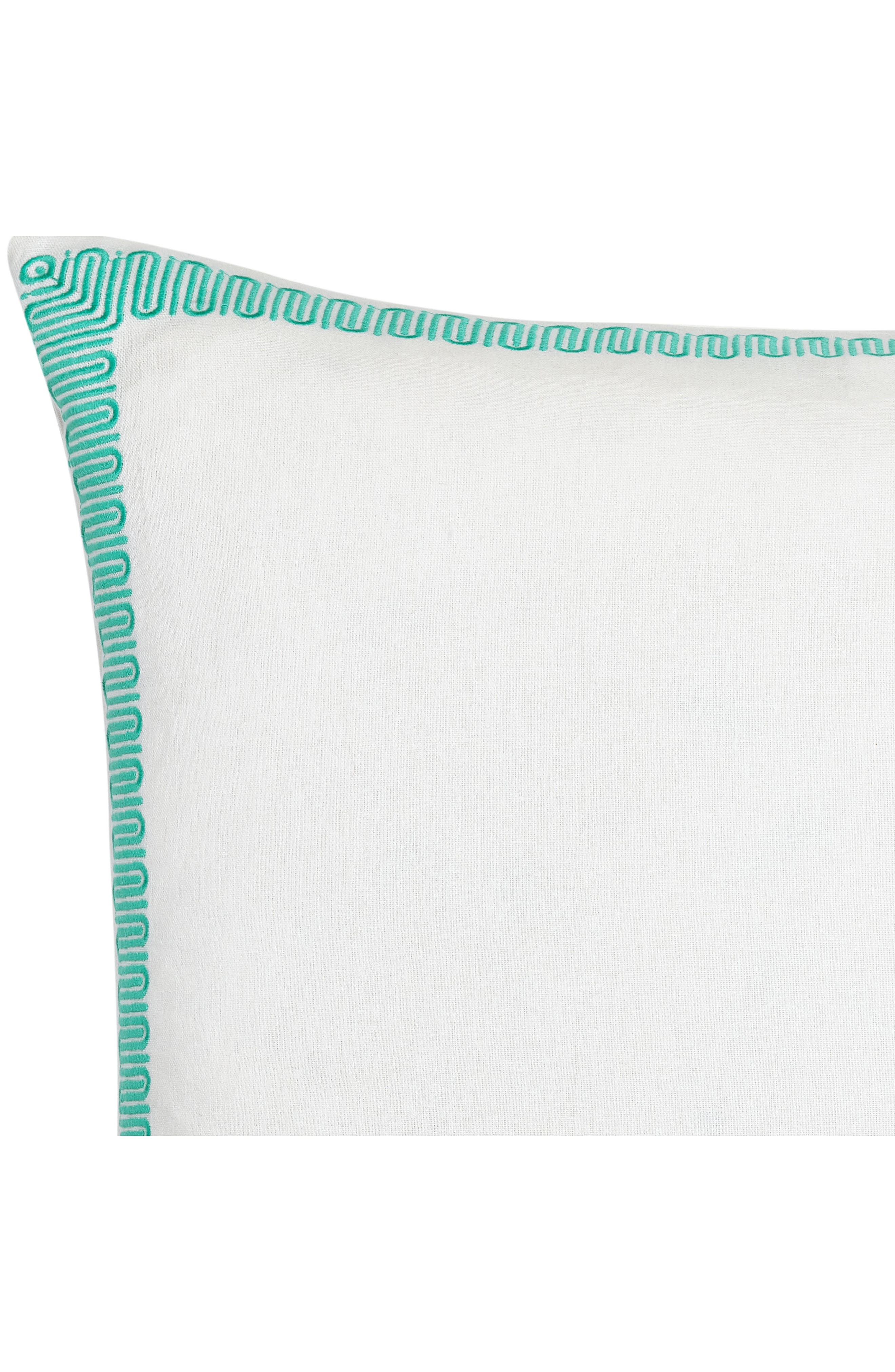 Avalon Euro Sham,                             Alternate thumbnail 2, color,                             TURQUOISE