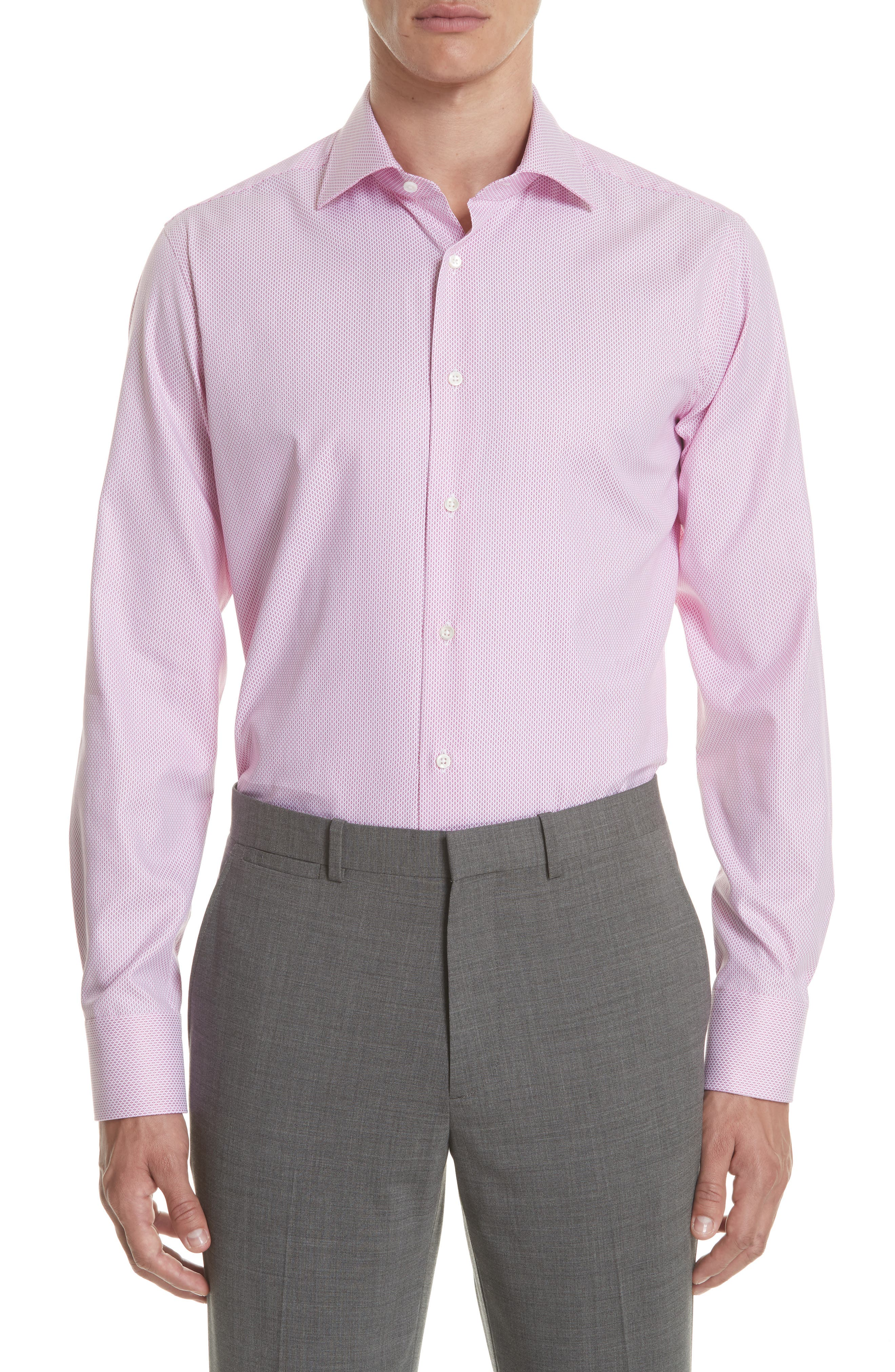 Regular Fit Geometric Print Dress Shirt,                             Main thumbnail 1, color,