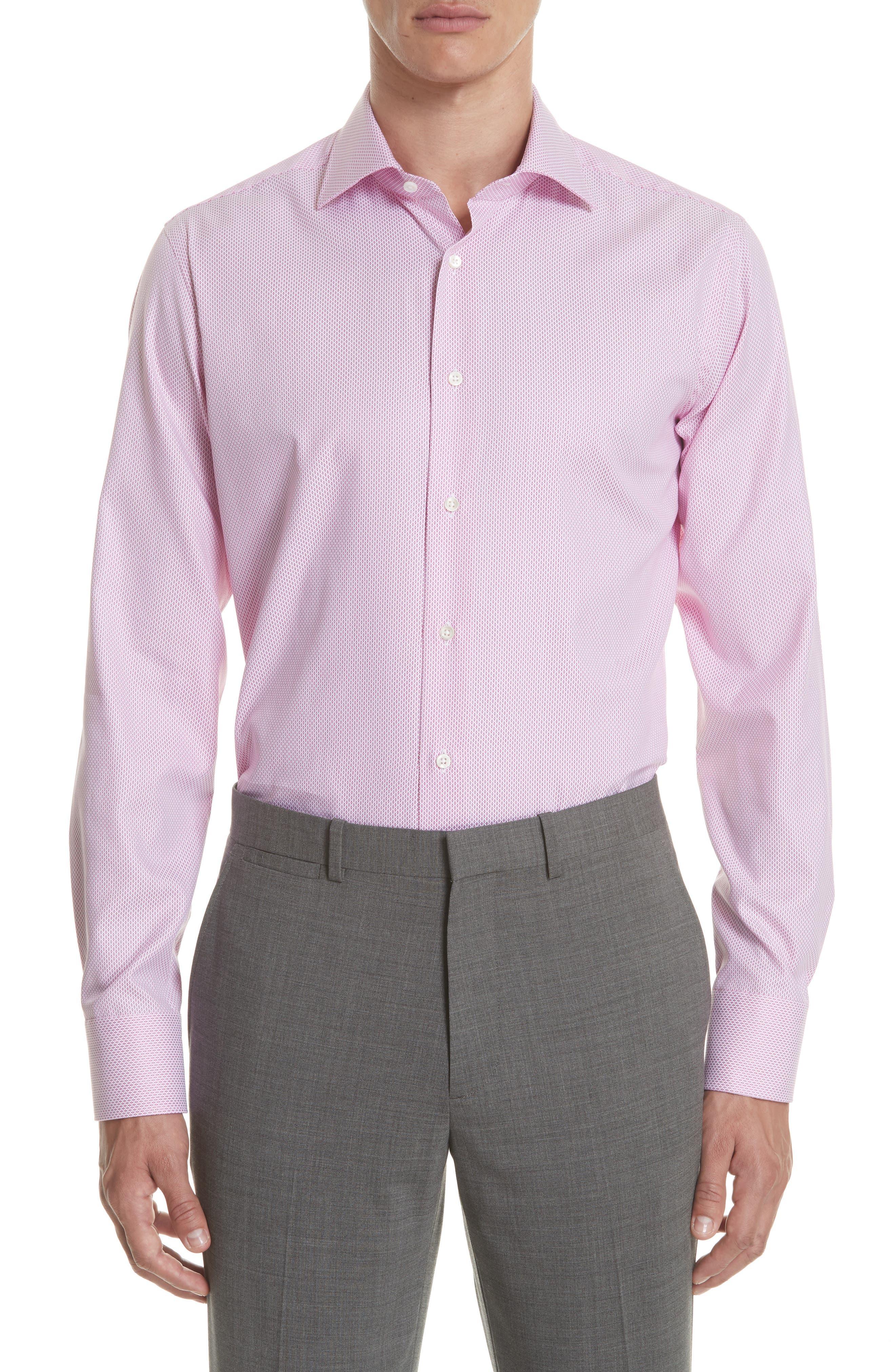Regular Fit Geometric Print Dress Shirt,                         Main,                         color,