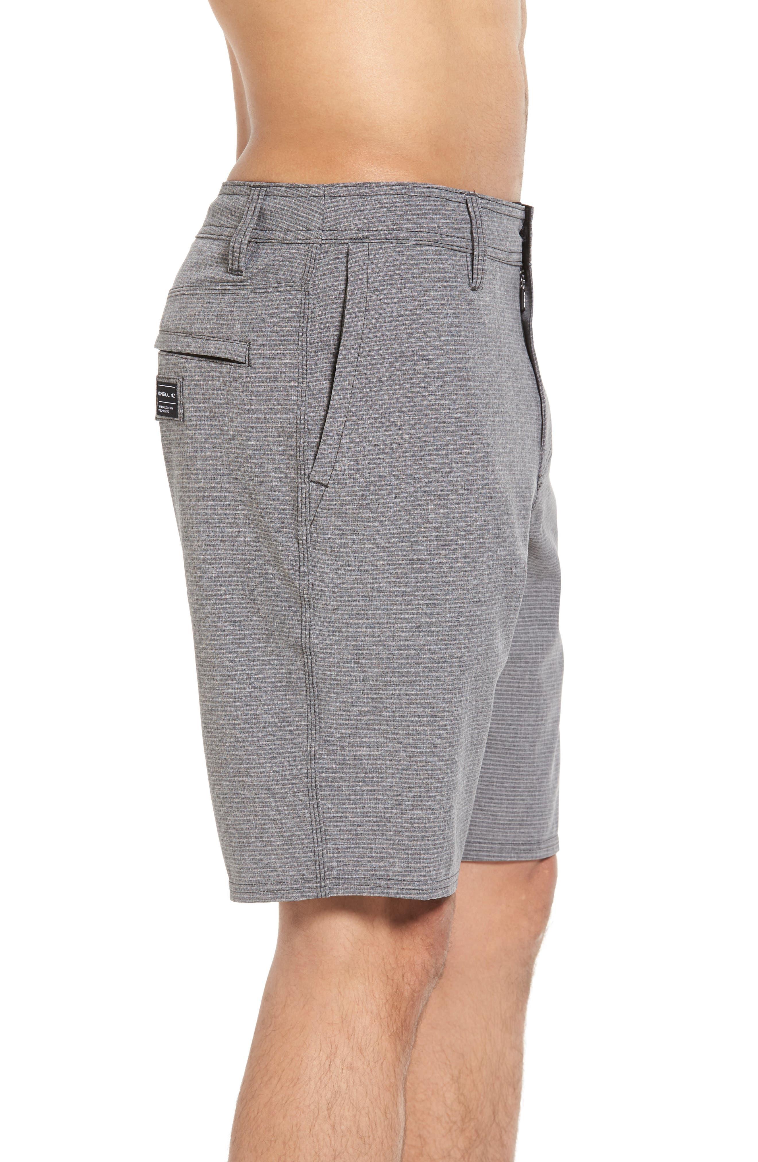 Locked Stripe Hybrid Shorts,                             Alternate thumbnail 3, color,                             001