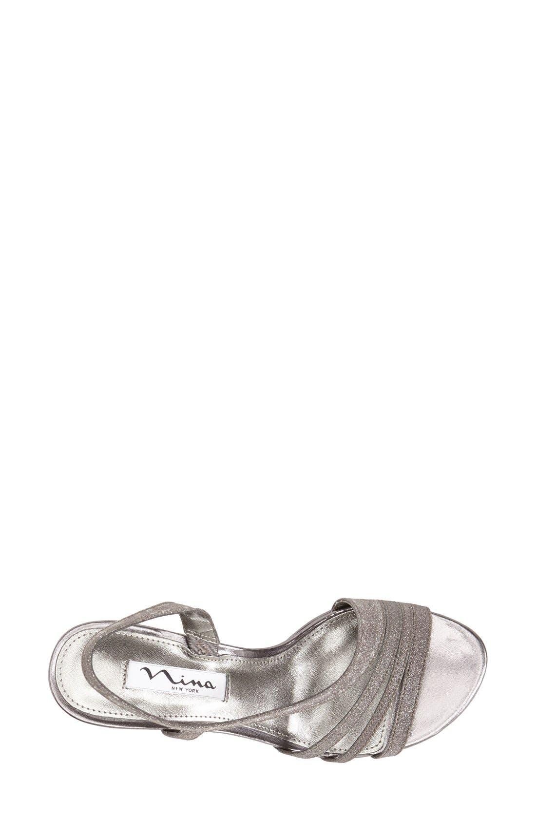 'Neely' Slingback Platform Sandal,                             Alternate thumbnail 4, color,                             CHARCOAL