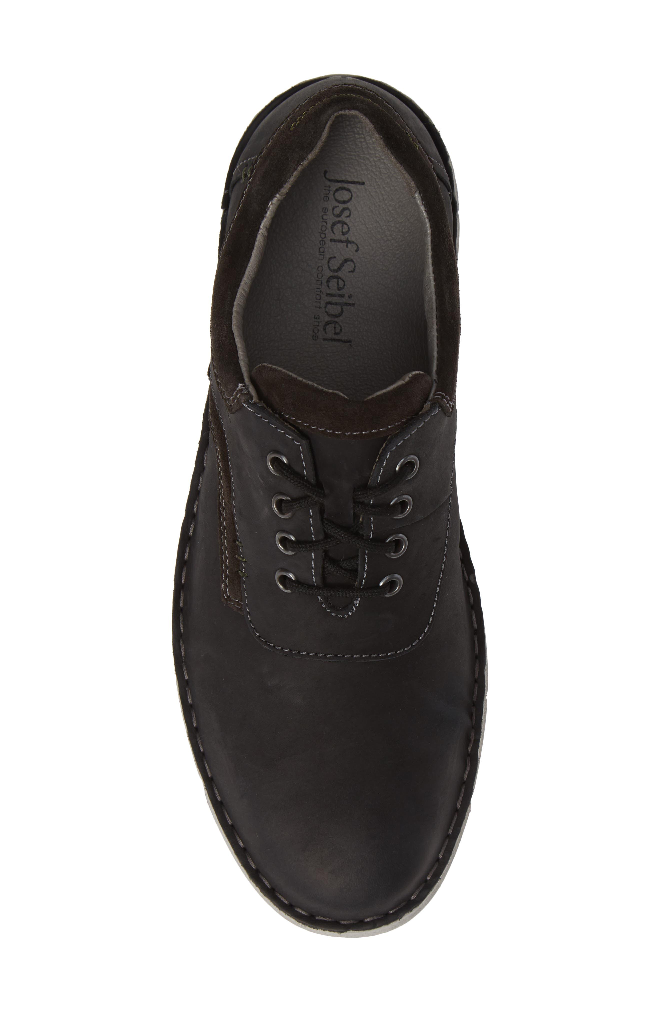 Ruben 13 Plain Toe Oxford,                             Alternate thumbnail 5, color,                             BLACK MARANELLO SUEDE