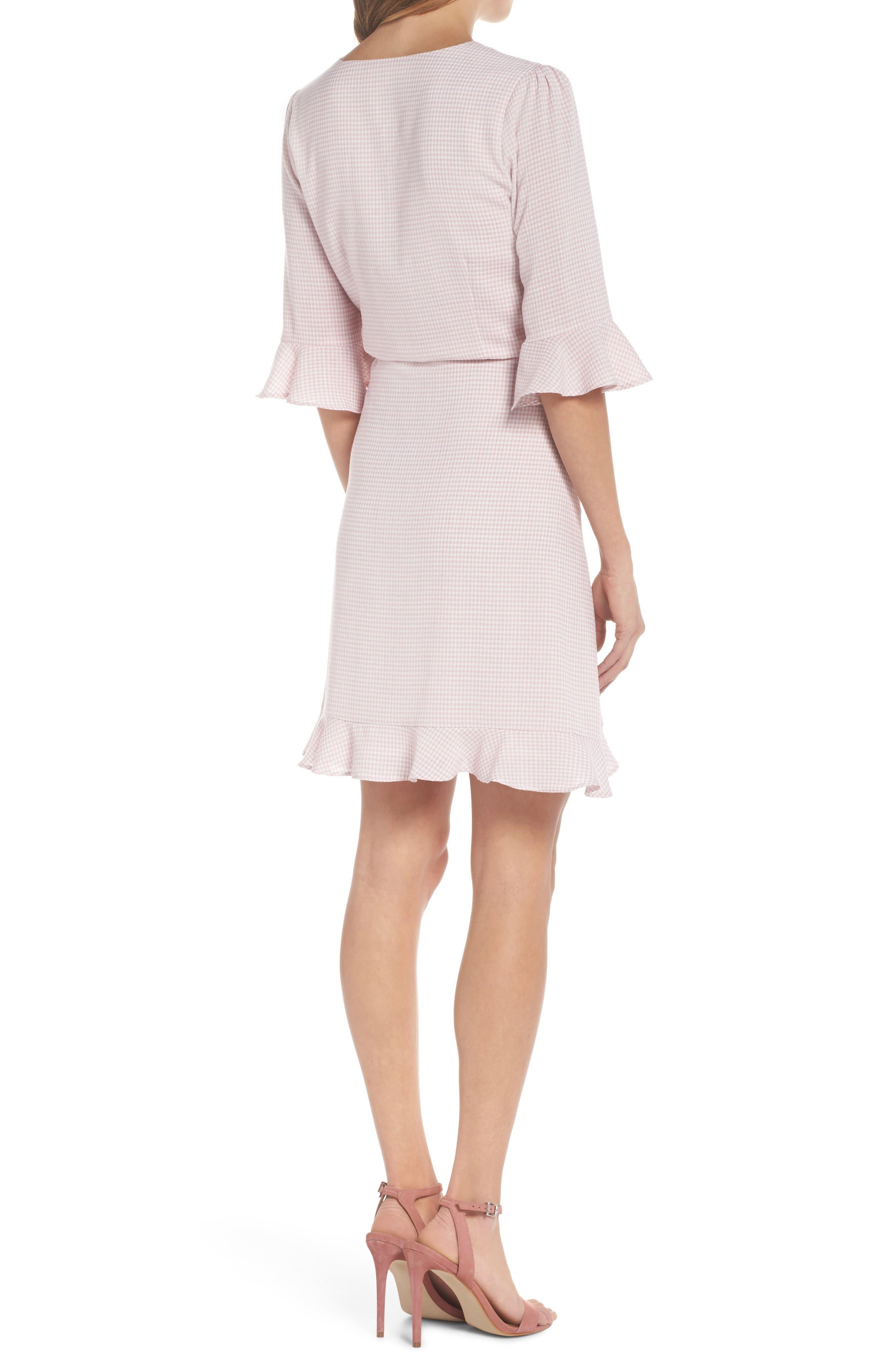 Gingham Wrap Dress,                             Alternate thumbnail 2, color,