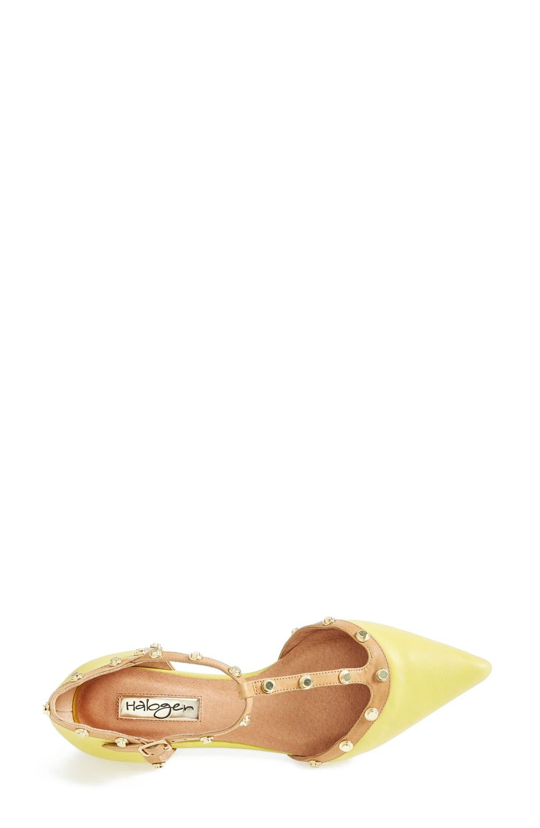 'Olson' Pointy Toe Studded T-Strap Flat,                             Alternate thumbnail 33, color,