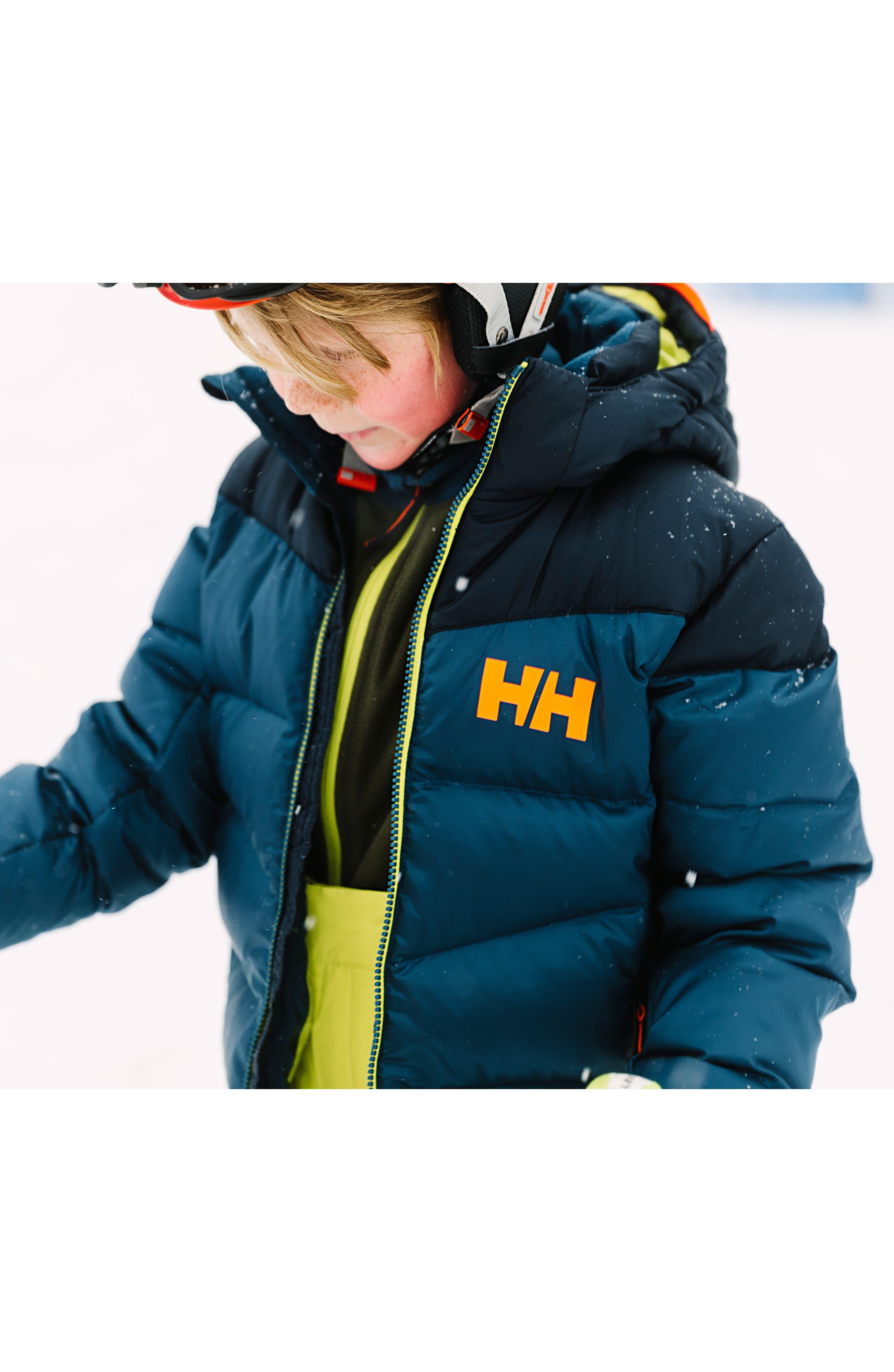 Fjord Water Resistant Puffer Jacket,                             Alternate thumbnail 3, color,                             DARK TEAL