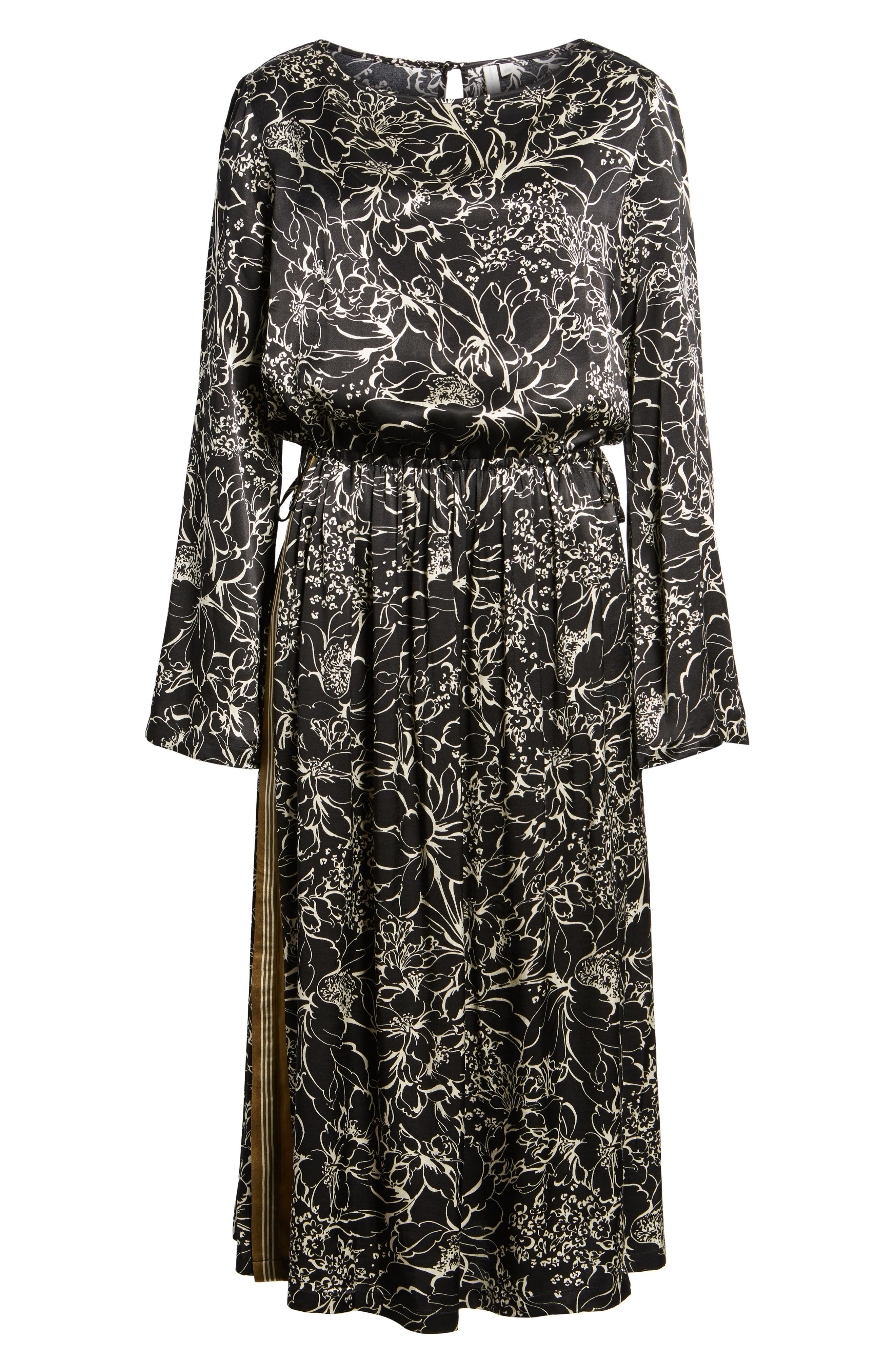Blouson Print Dress,                             Alternate thumbnail 6, color,