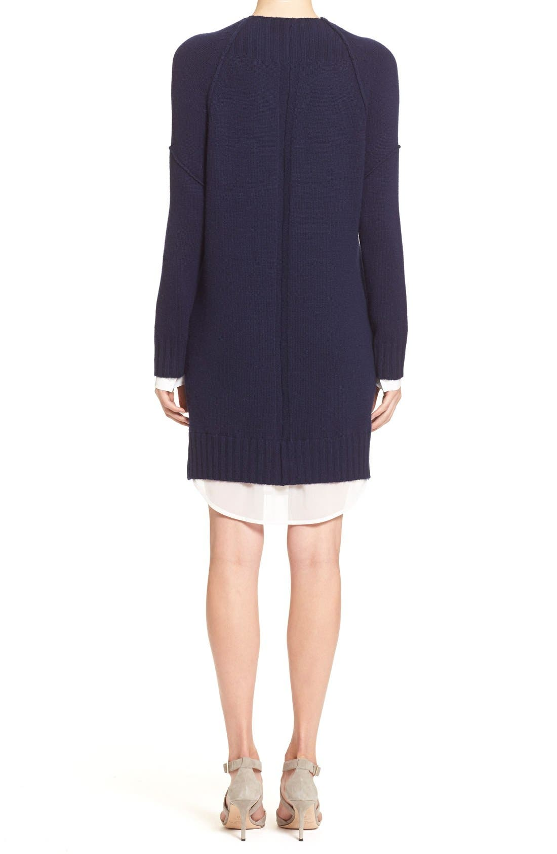 'Looker' Layered Wool & Cashmere Dress,                             Alternate thumbnail 5, color,                             414