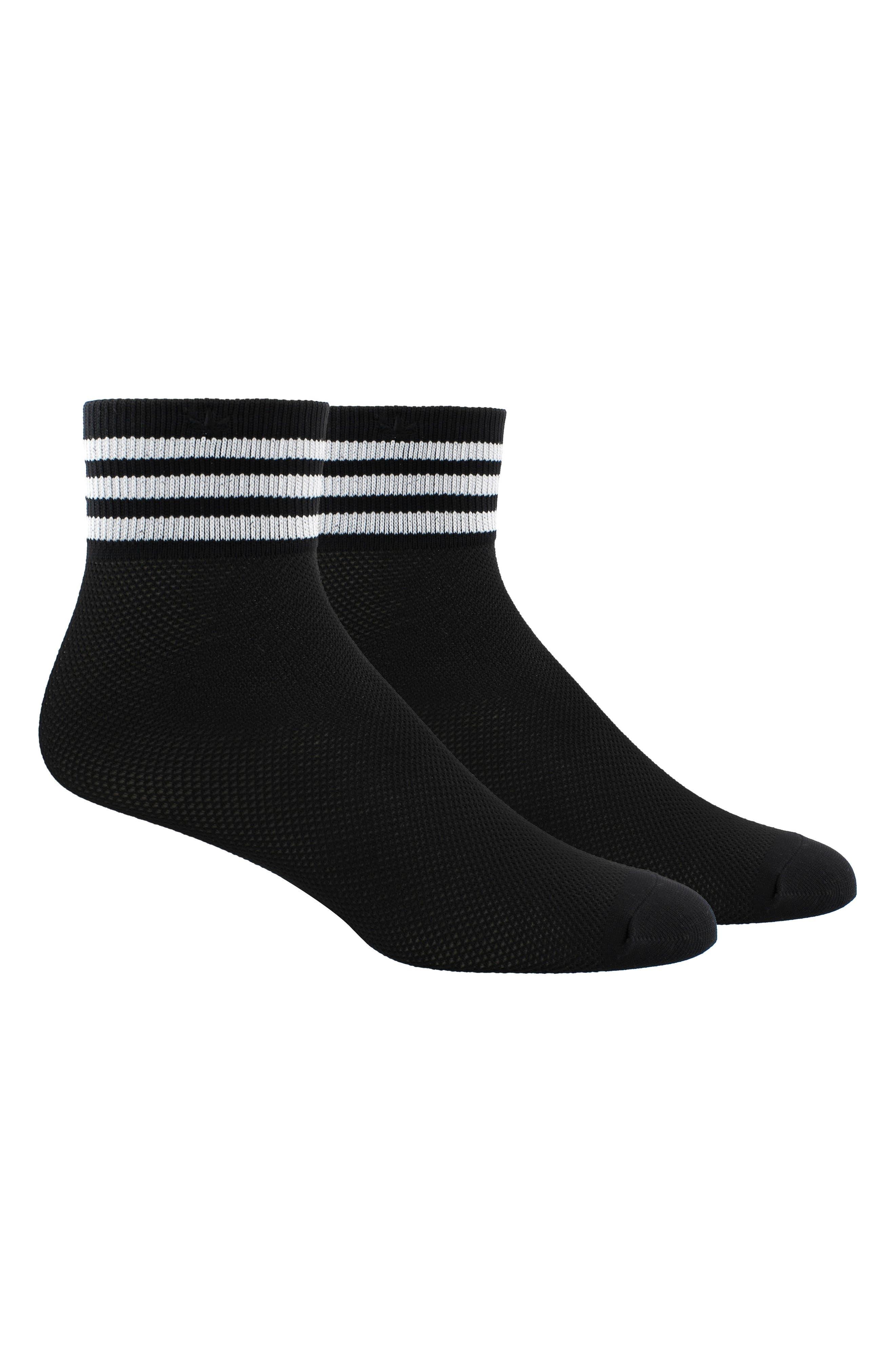 Stripe Mesh Ankle Socks,                             Alternate thumbnail 2, color,                             001