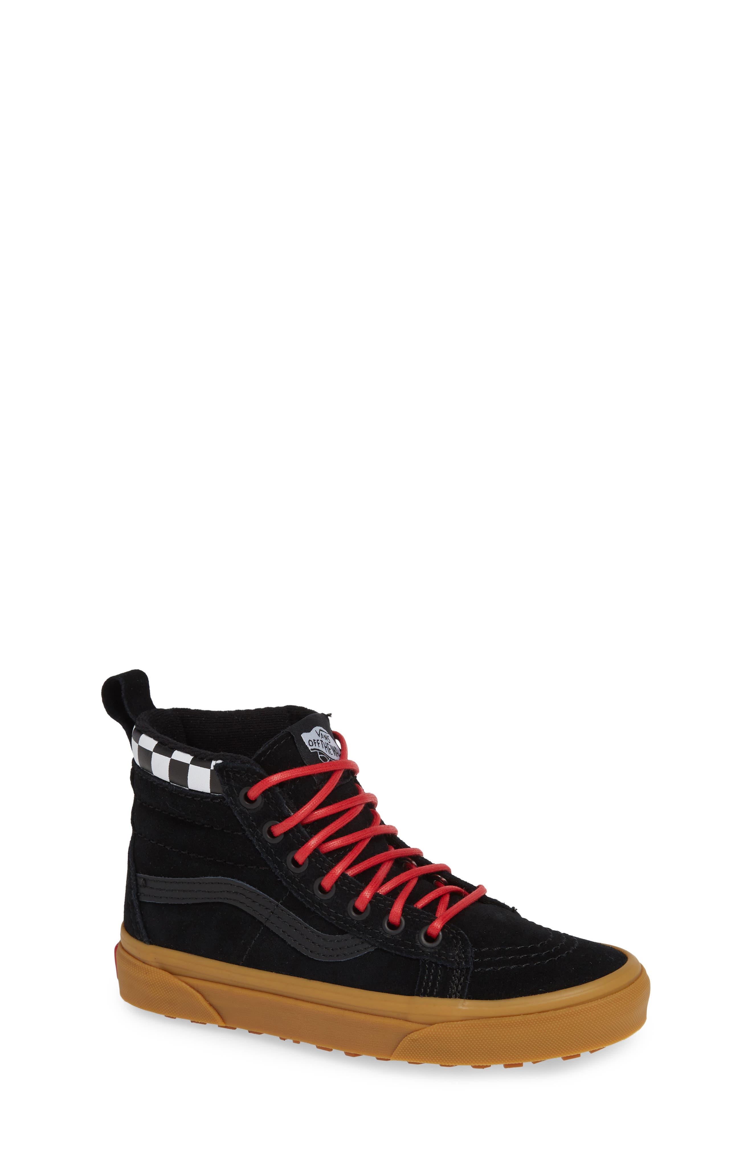 SK8-Hi Sneaker,                         Main,                         color, CHECKERBOARD/ BLACK