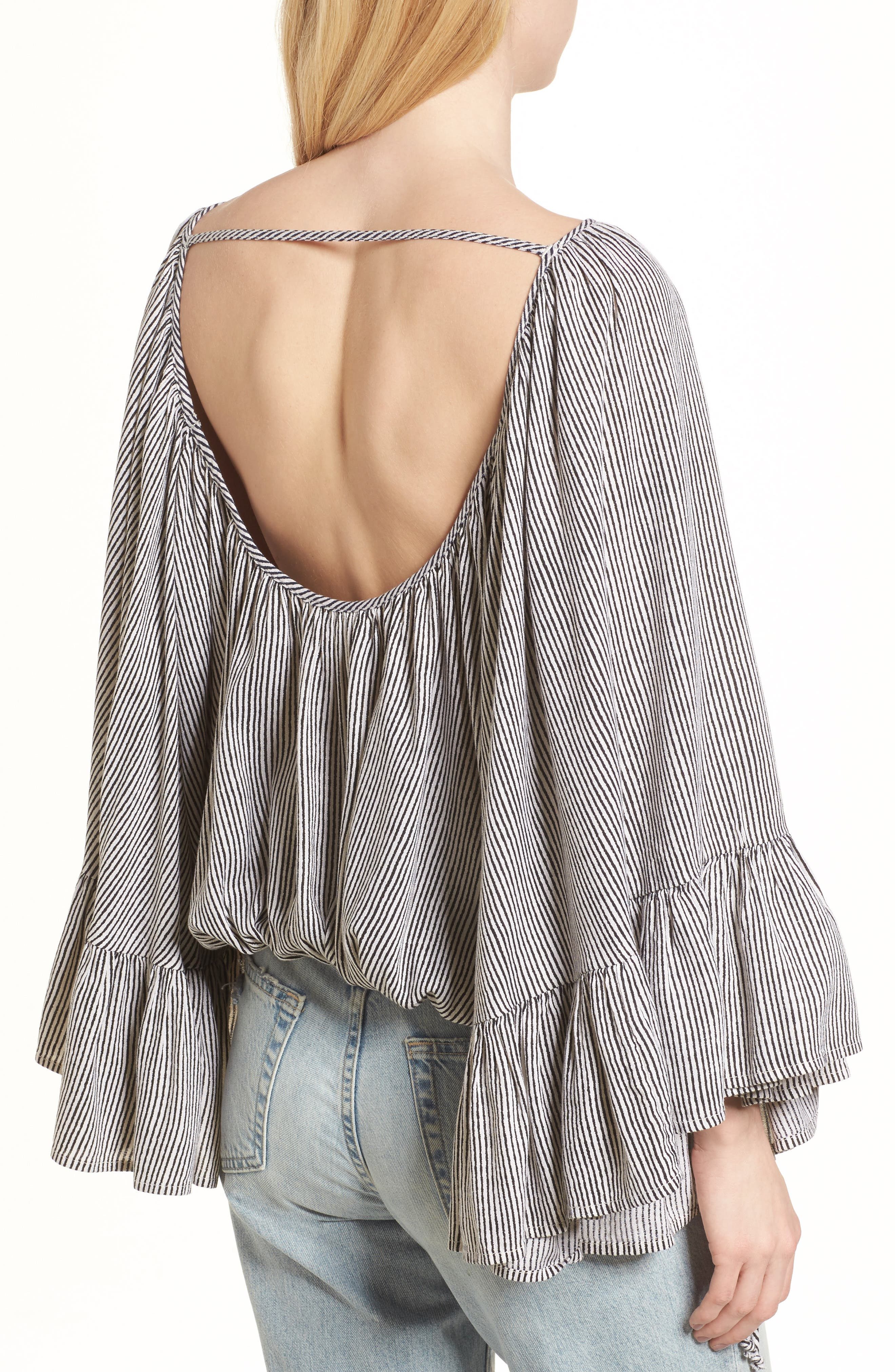 More Love Ruffle Sleeve Top,                             Alternate thumbnail 2, color,                             900