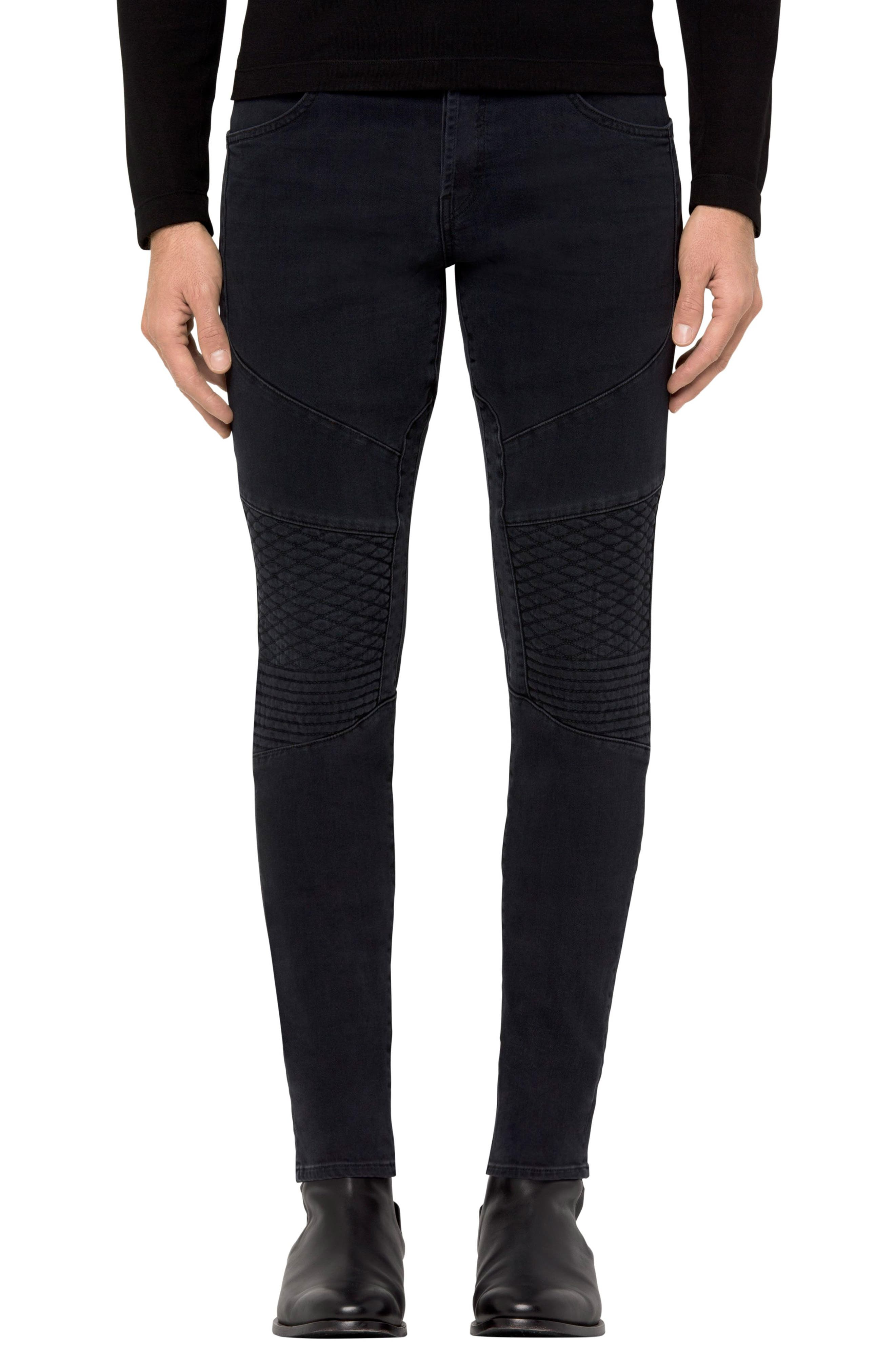 Bearden Moto Skinny Fit Jeans,                         Main,                         color, 002