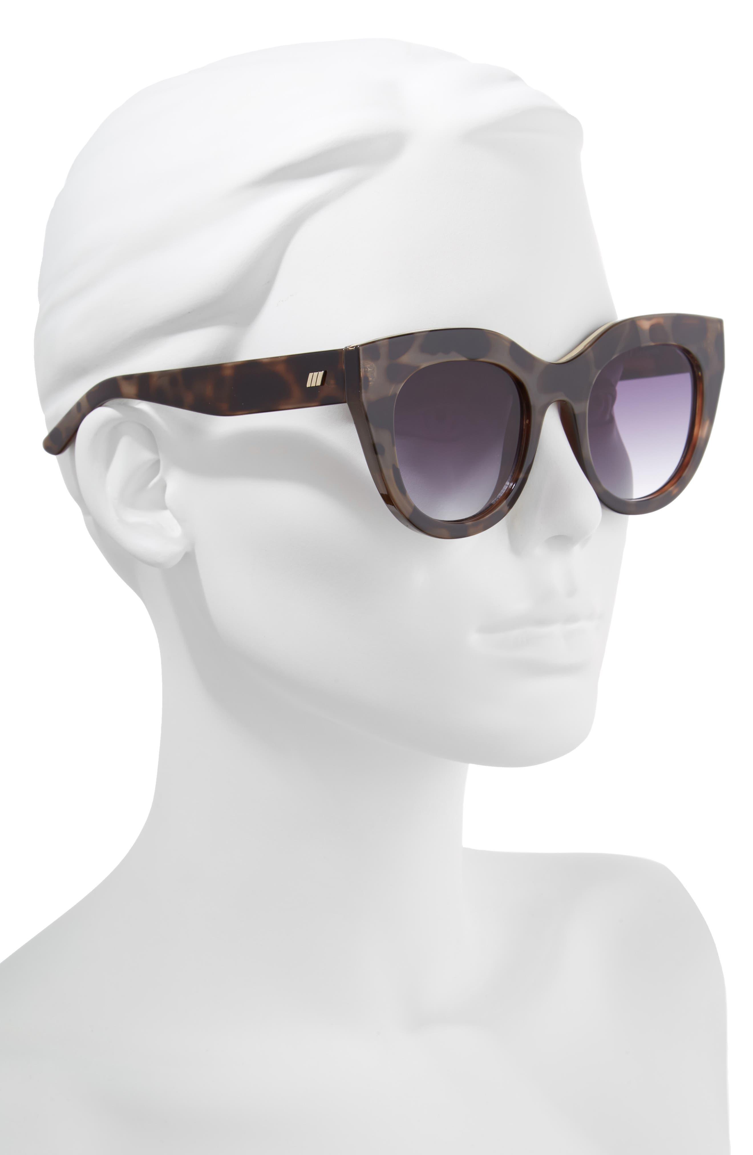 Air Heart 51mm Cat Eye Sunglasses,                             Alternate thumbnail 2, color,                             VOLCANIC TORTOISE