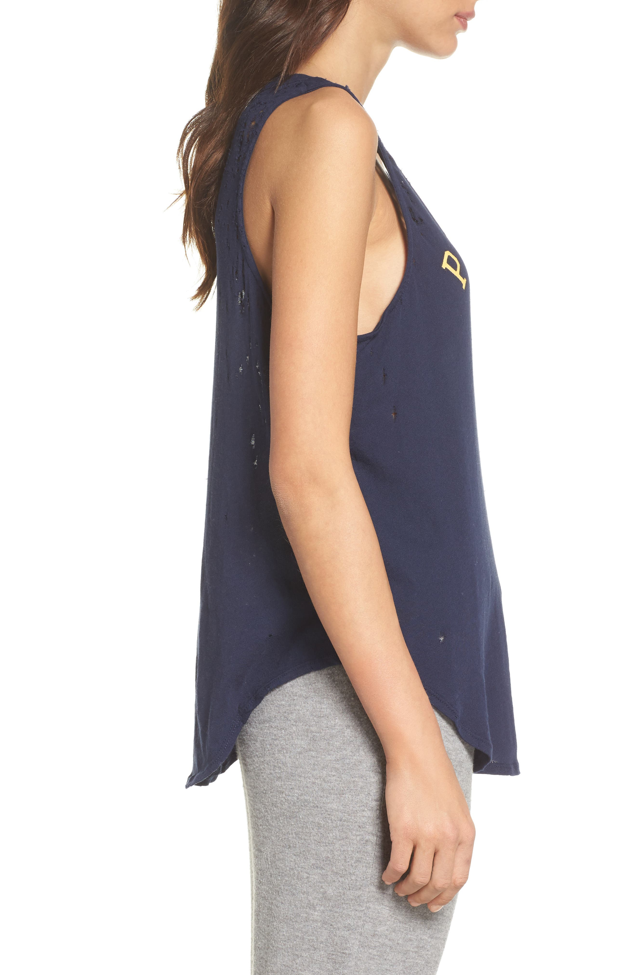 Distressed Muscle Tank,                             Alternate thumbnail 3, color,