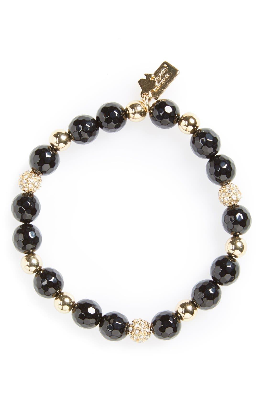 katespade new yorkbeaded stretch bracelet,                             Main thumbnail 1, color,                             001