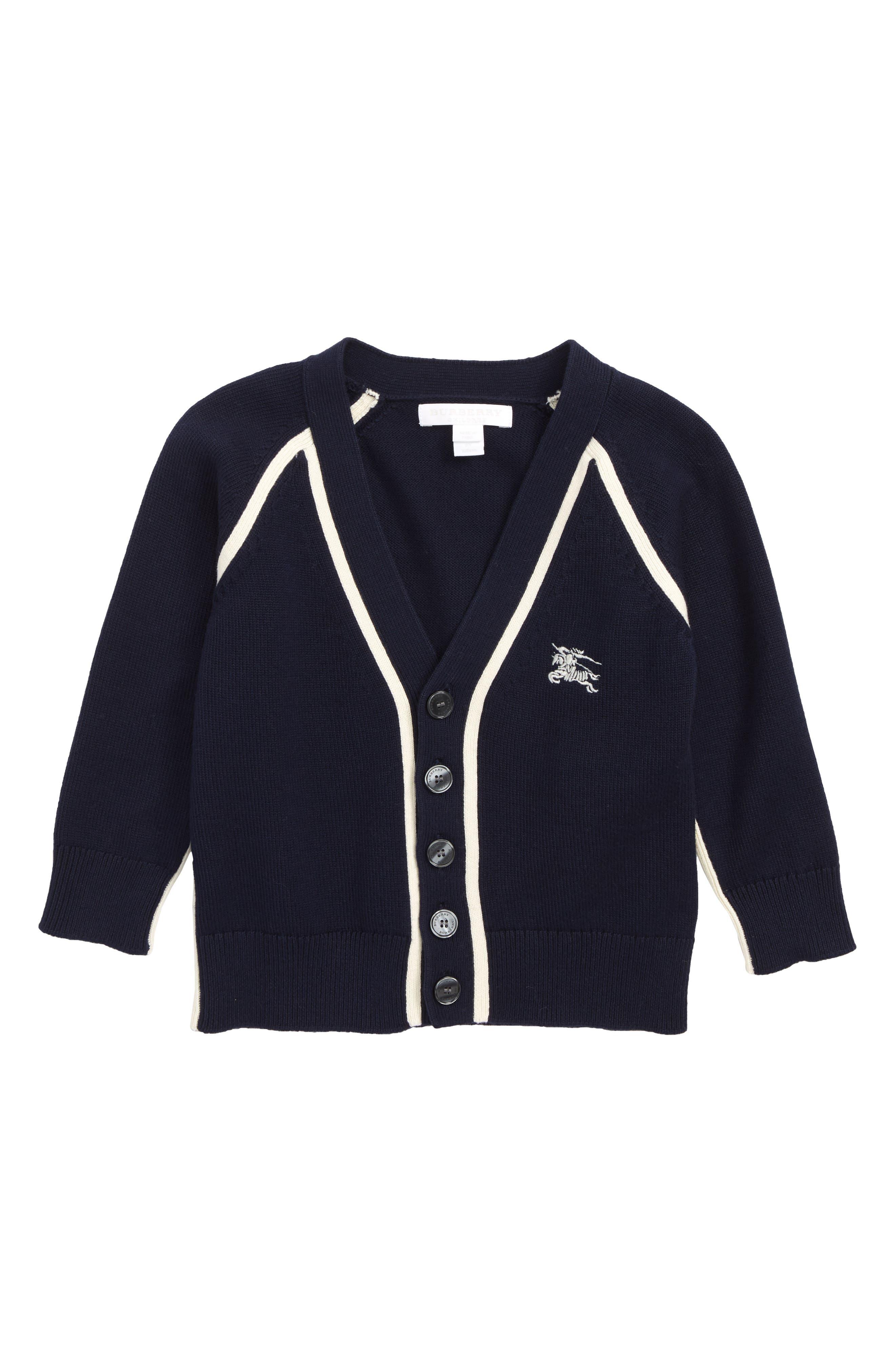 Boys Burberry Sedrick Cardigan Size 14Y  Blue