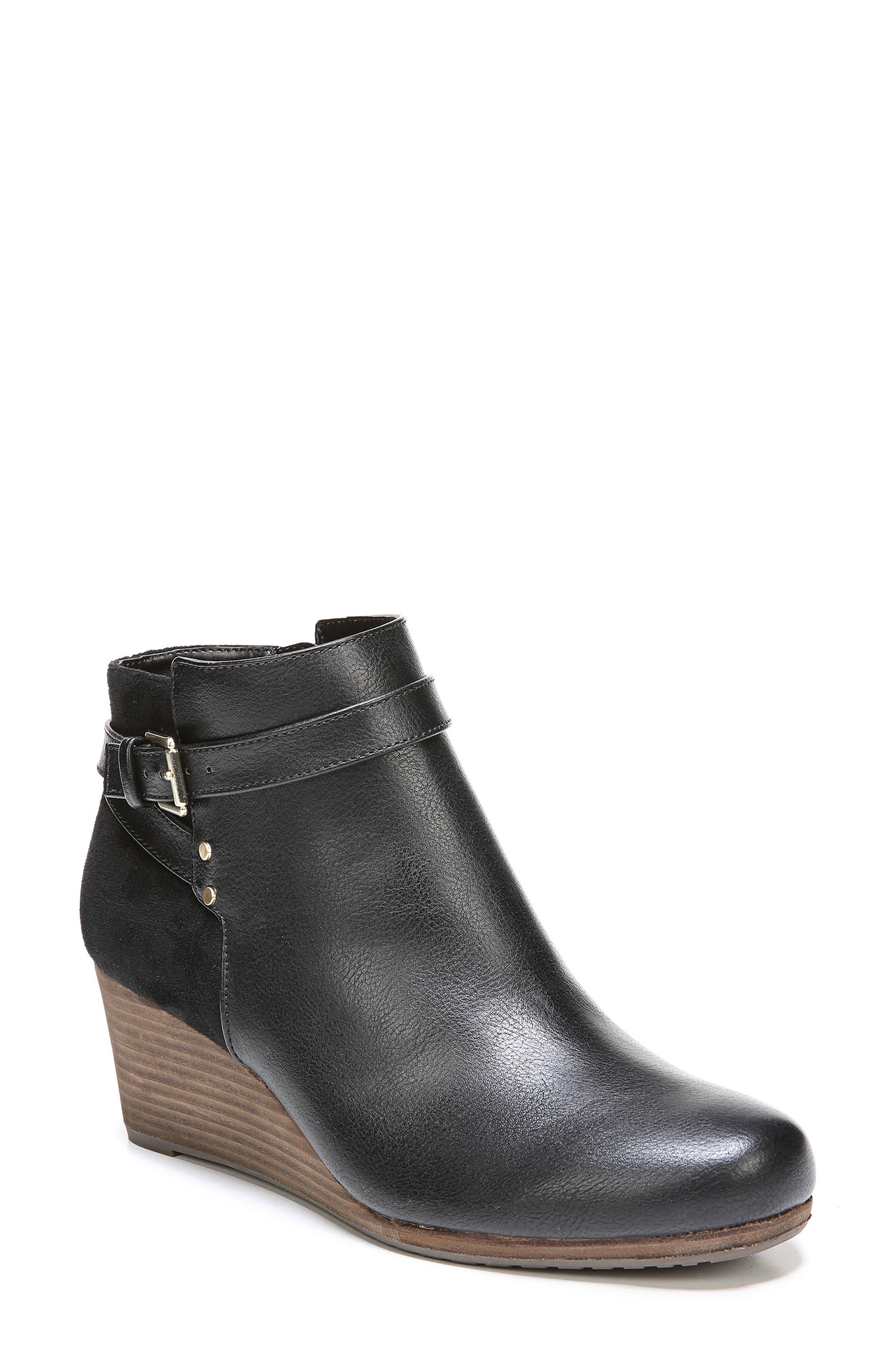 Double Wedge Bootie,                             Main thumbnail 1, color,                             001