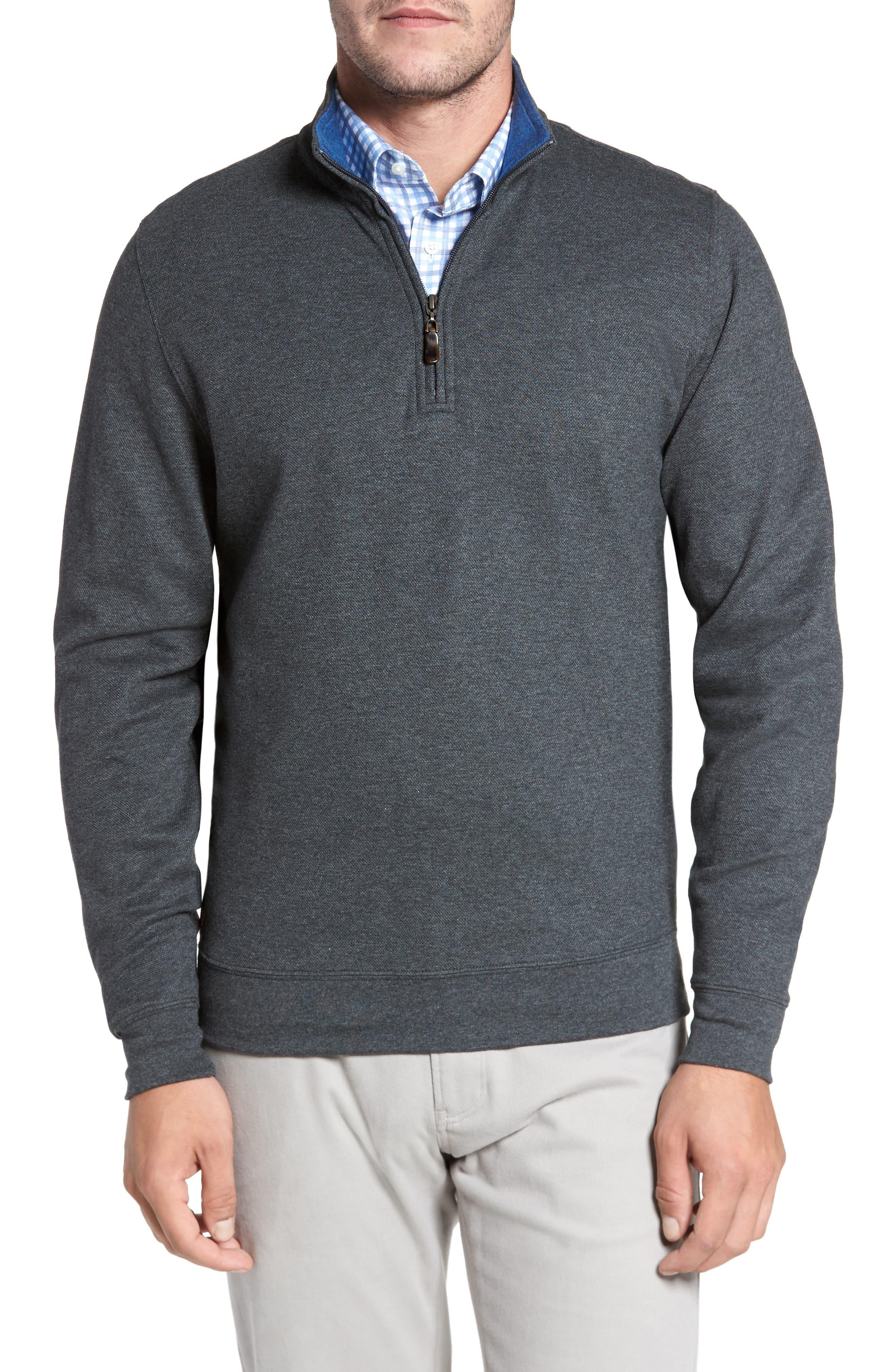 Mélange Quarter Zip Pullover,                             Main thumbnail 1, color,