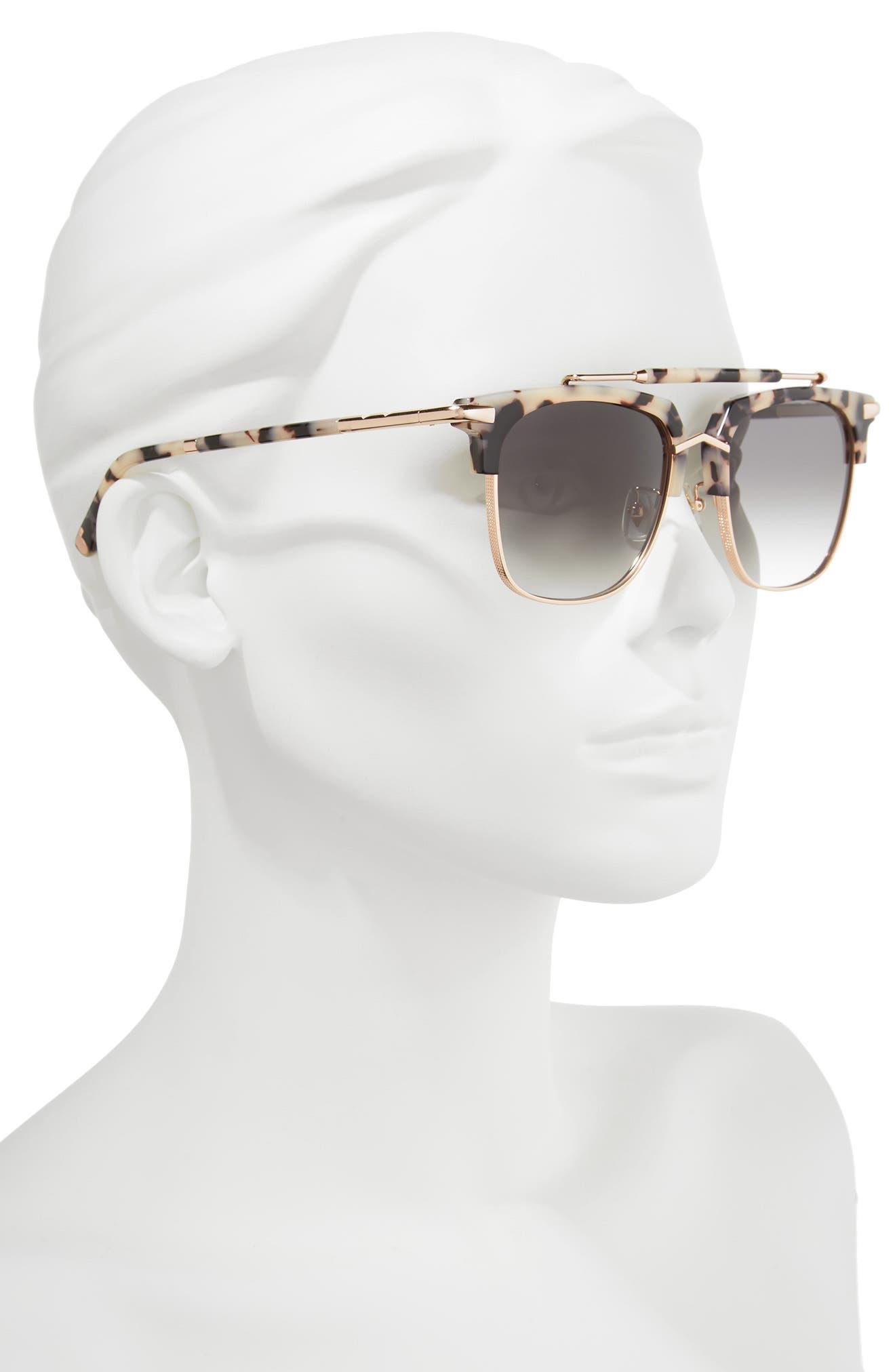 Cocktails & Dreams 53mm Sunglasses,                             Alternate thumbnail 2, color,                             COOKIES/ CREAM/ ROSE GOLD GREY