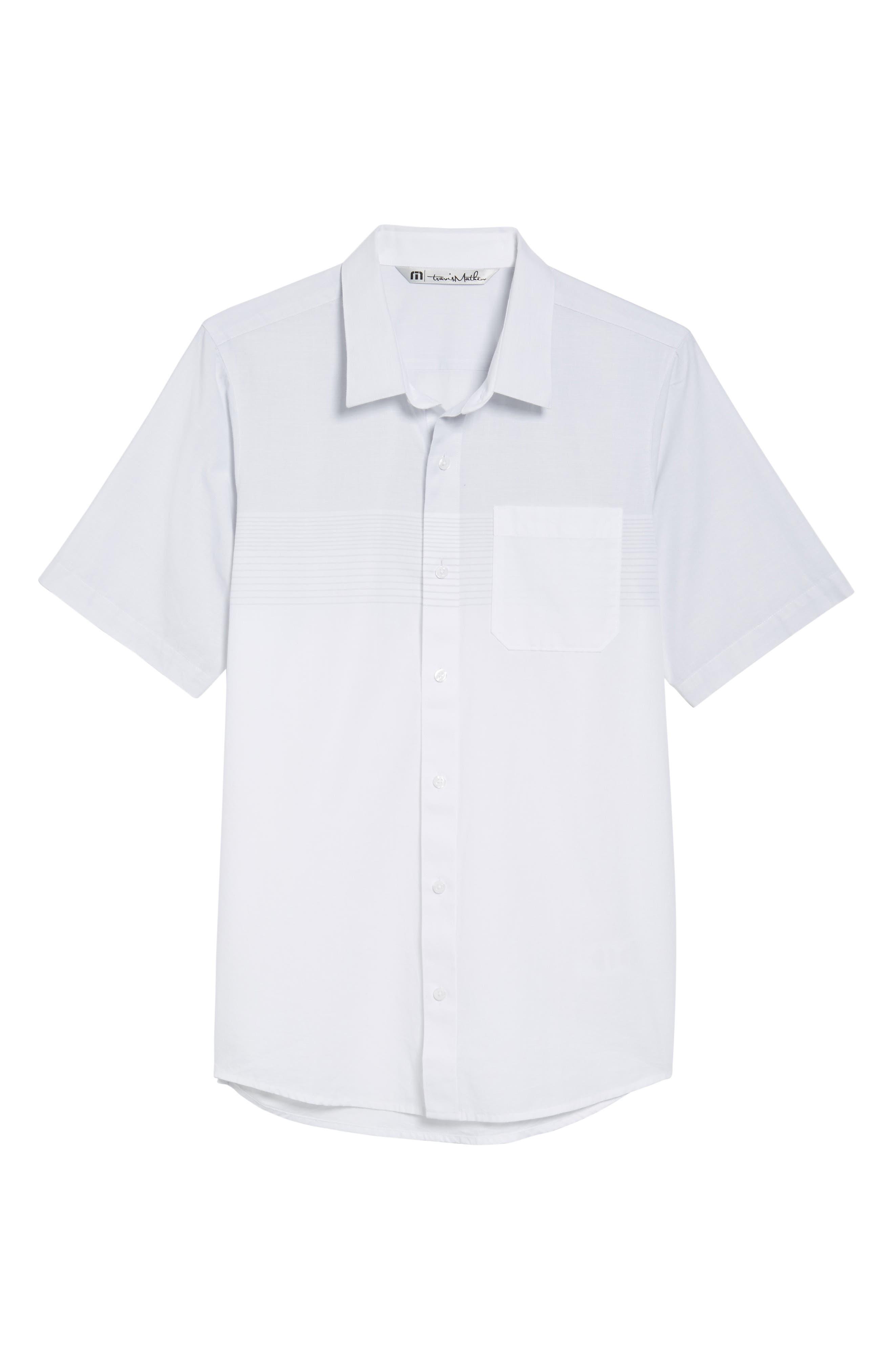 Charlie Pinstripe Woven Shirt,                             Alternate thumbnail 6, color,                             100