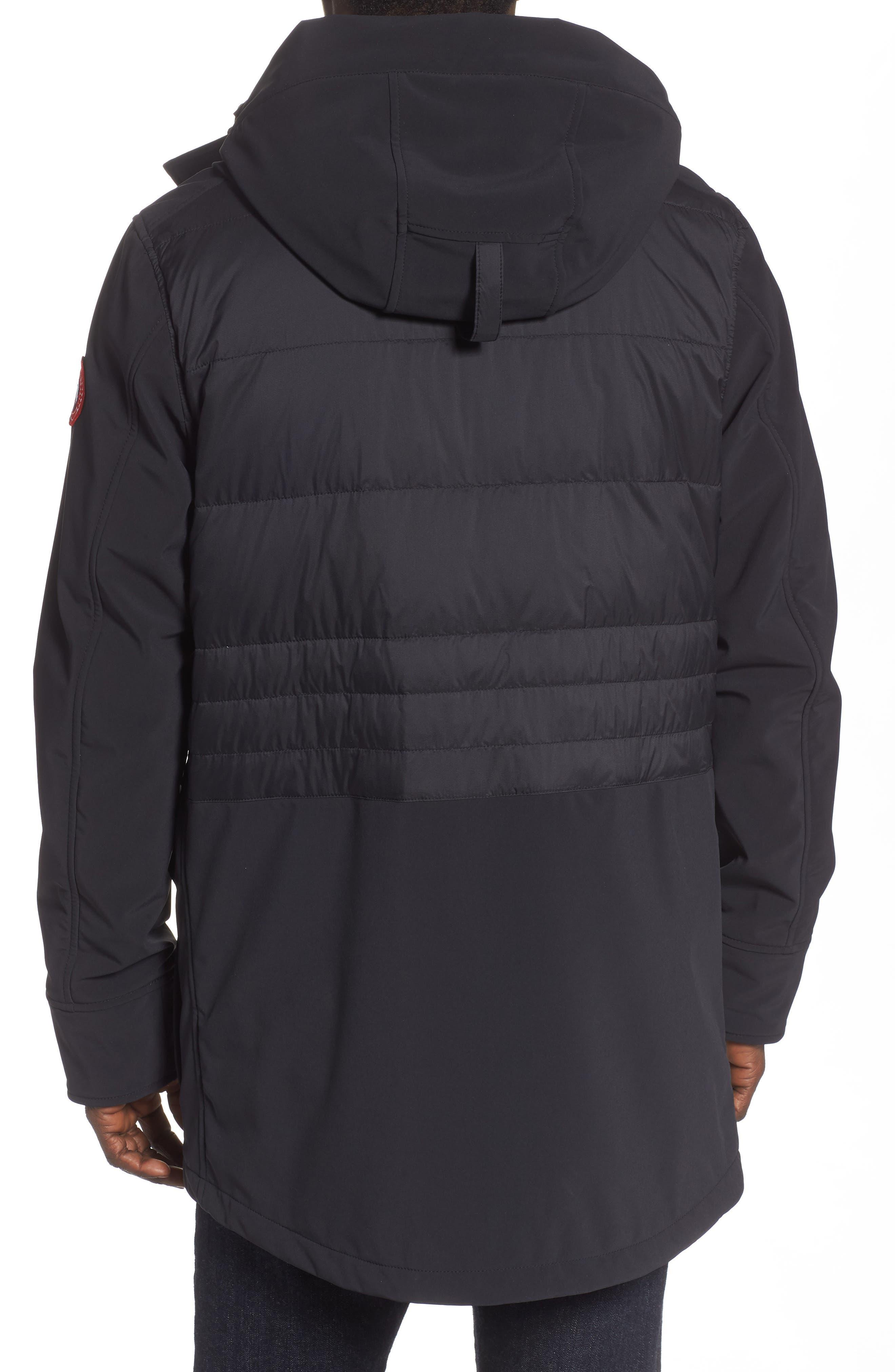 CANADA GOOSE,                             Breton 675-Fill Power Down Coat,                             Alternate thumbnail 2, color,                             BLACK