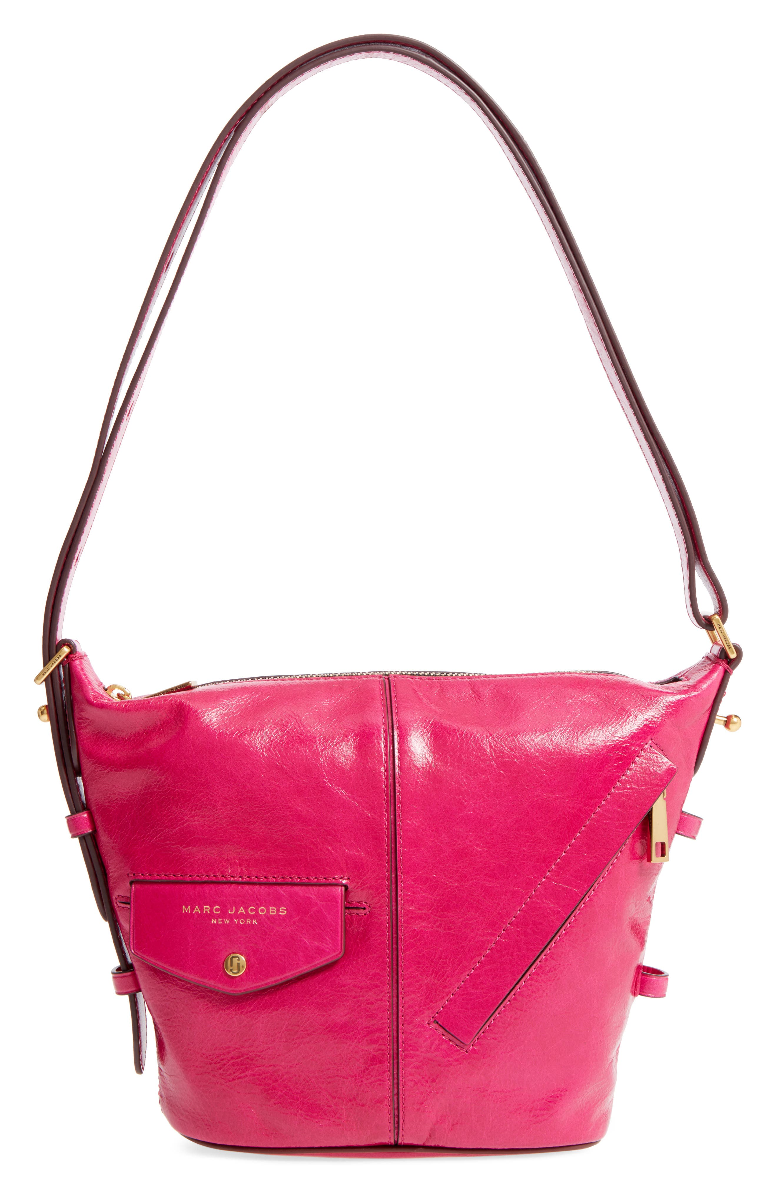 The Vintage Mini Sling Convertible Leather Hobo,                             Main thumbnail 1, color,