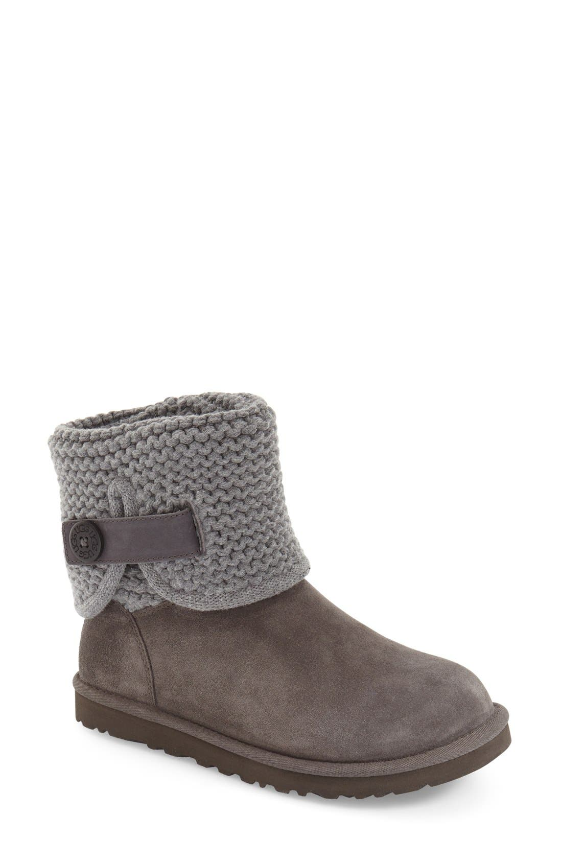 Shaina Knit Cuff Bootie,                             Main thumbnail 3, color,