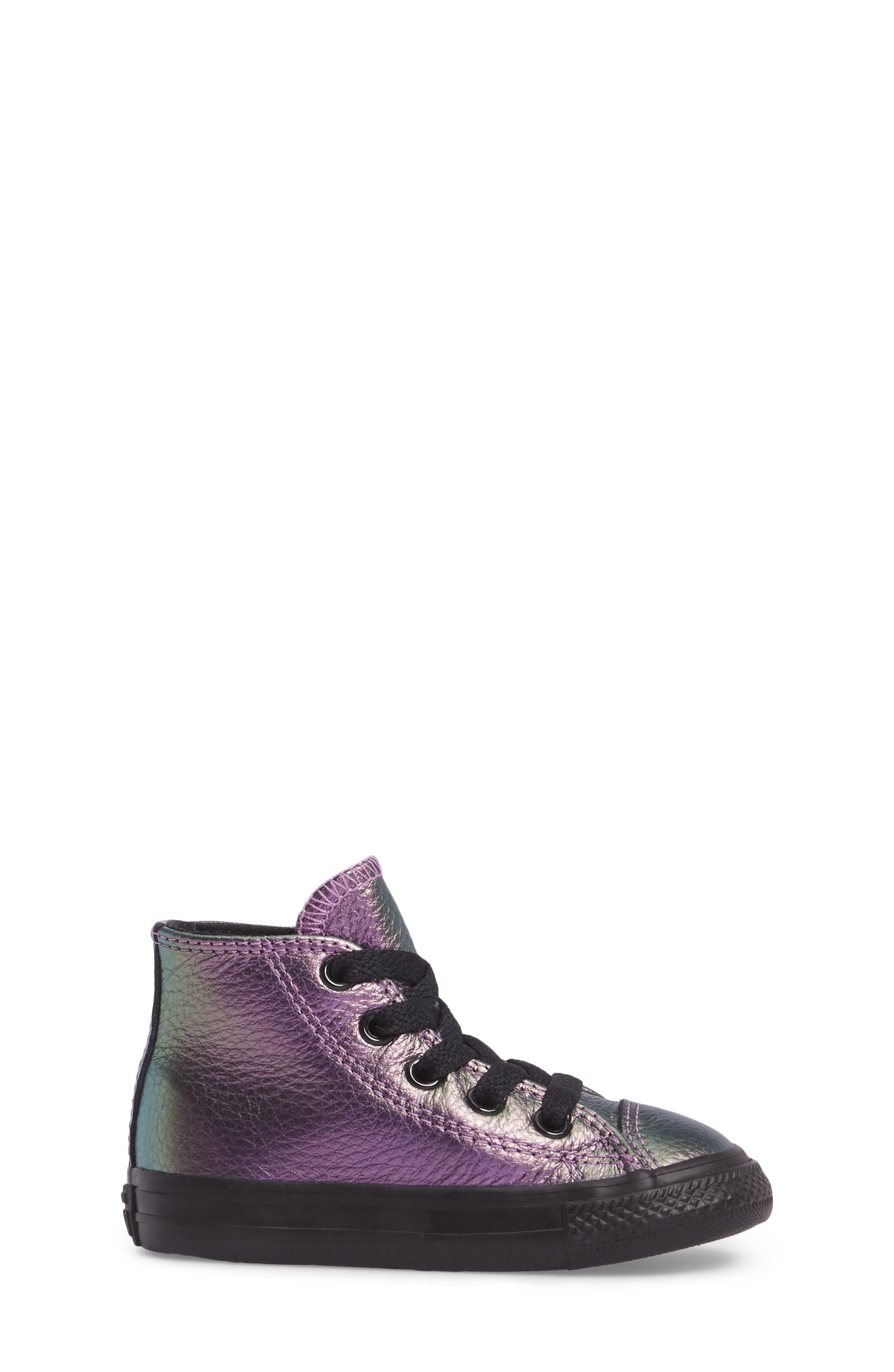 Chuck Taylor<sup>®</sup> All Star<sup>®</sup> Iridescent Leather High Top Sneaker,                             Alternate thumbnail 6, color,
