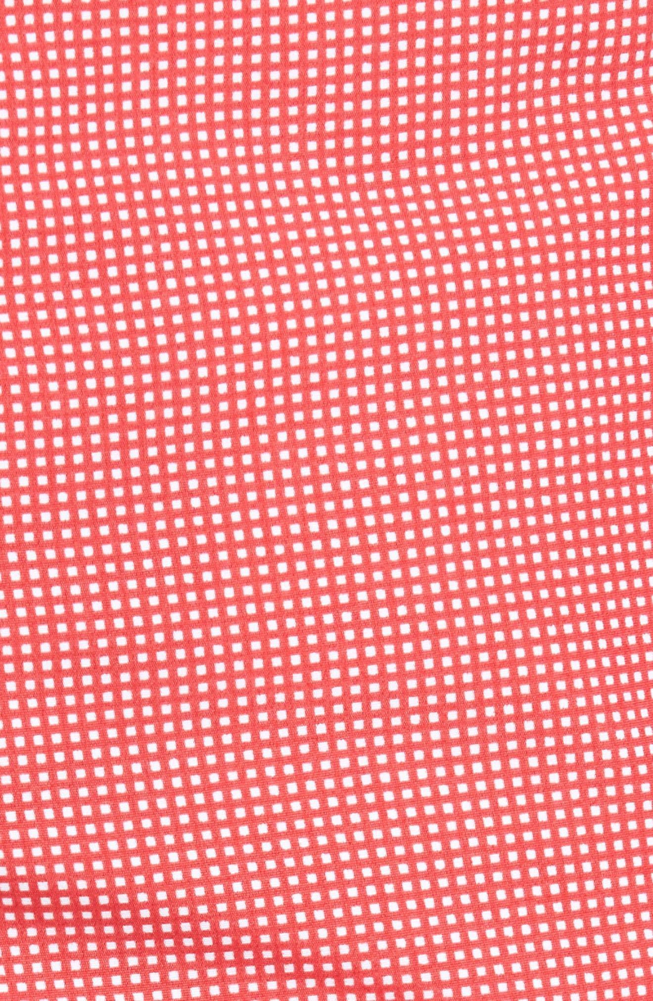 Aruba Microcheck Tailored Fit 8.5 Inch Swim Trunks,                             Alternate thumbnail 5, color,                             611