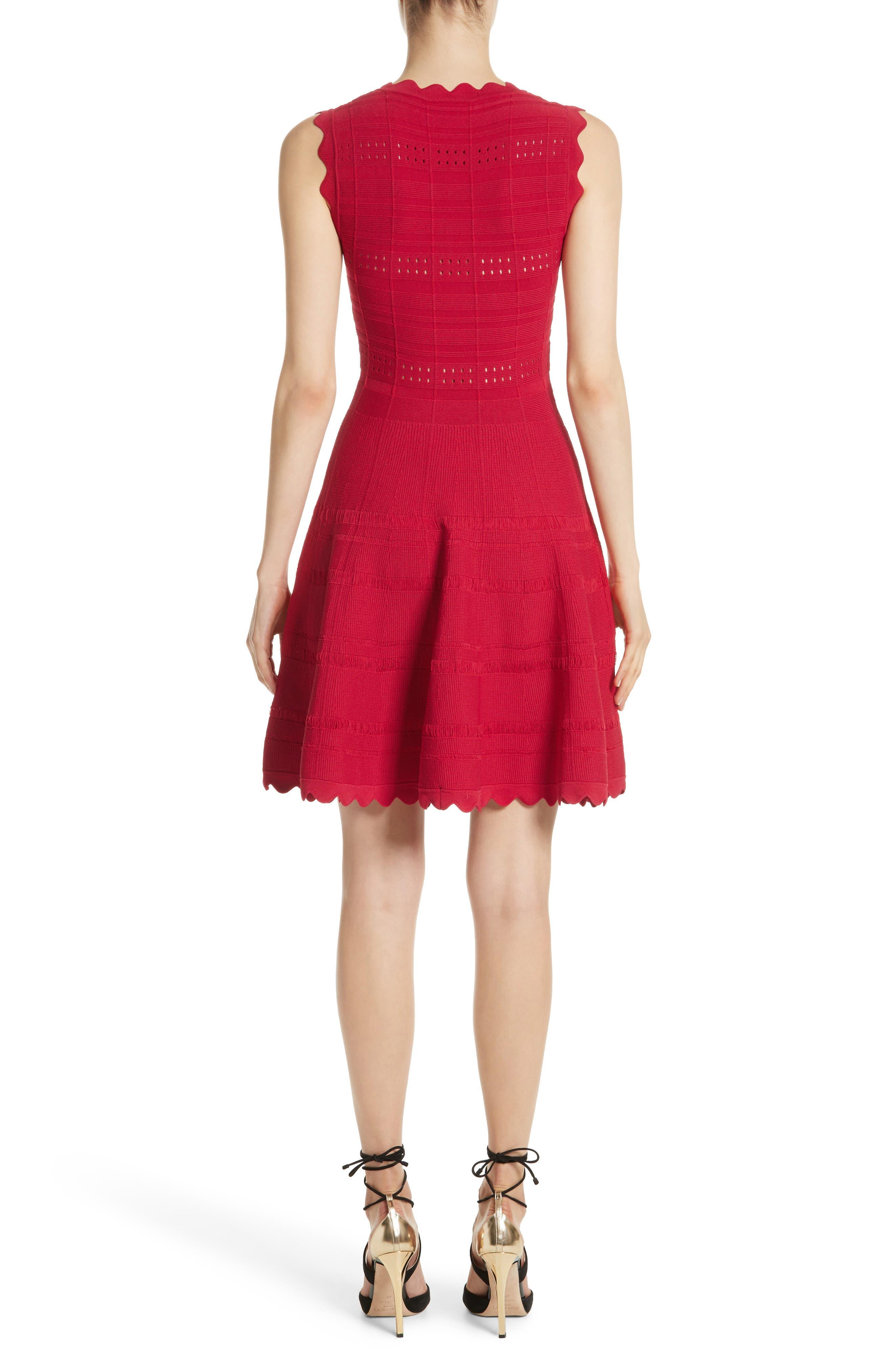 Scallop Trim Knit Dress,                             Alternate thumbnail 2, color,