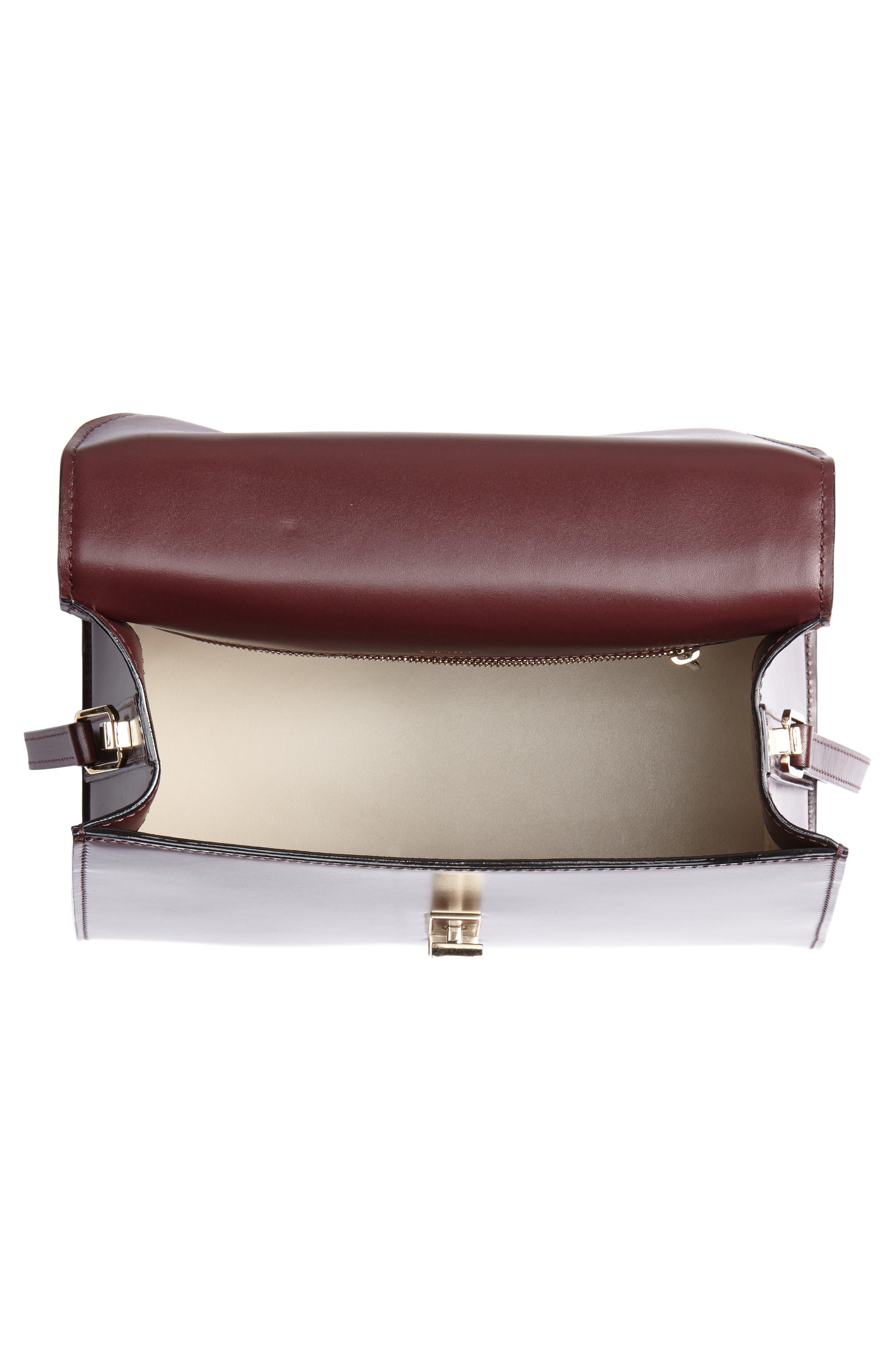 Iside Medium Colorblock Leather Top Handle Bag,                             Alternate thumbnail 4, color,                             FRAGOLA/ GRANATA