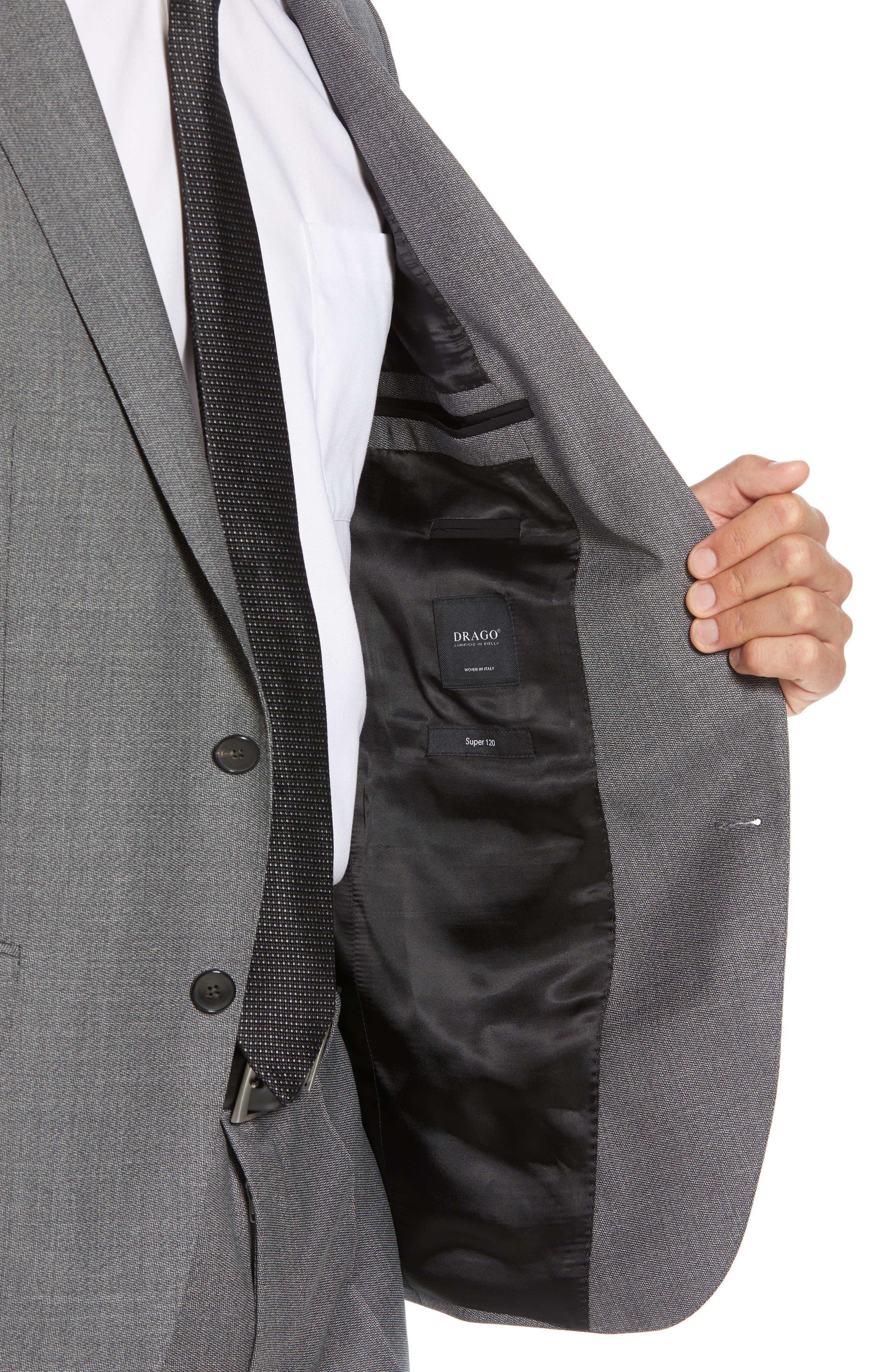 Novan/Ben Trim Fit Solid Wool Suit,                             Alternate thumbnail 4, color,                             GREY