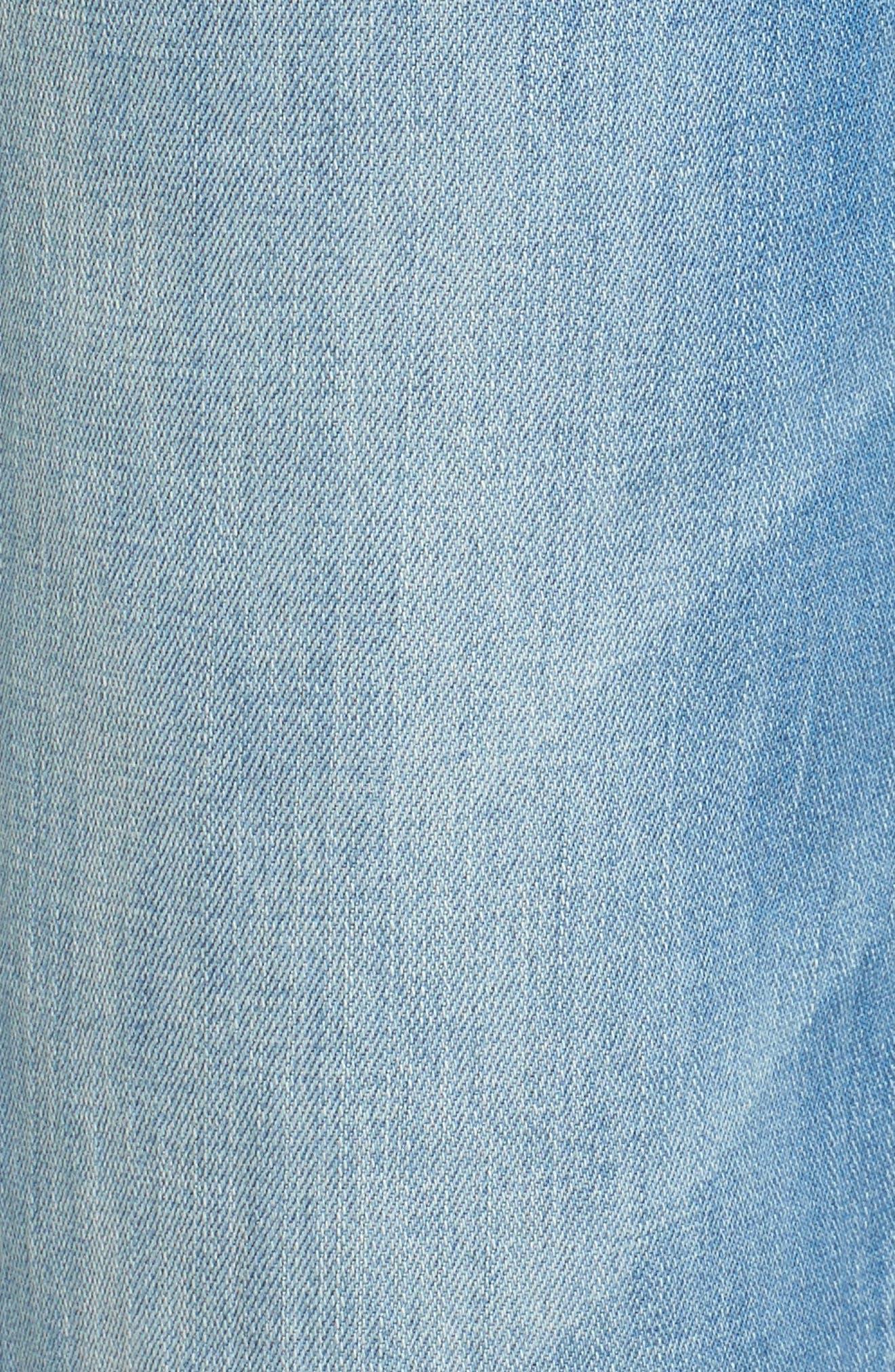 Wide Leg Cropped Jeans,                             Alternate thumbnail 6, color,