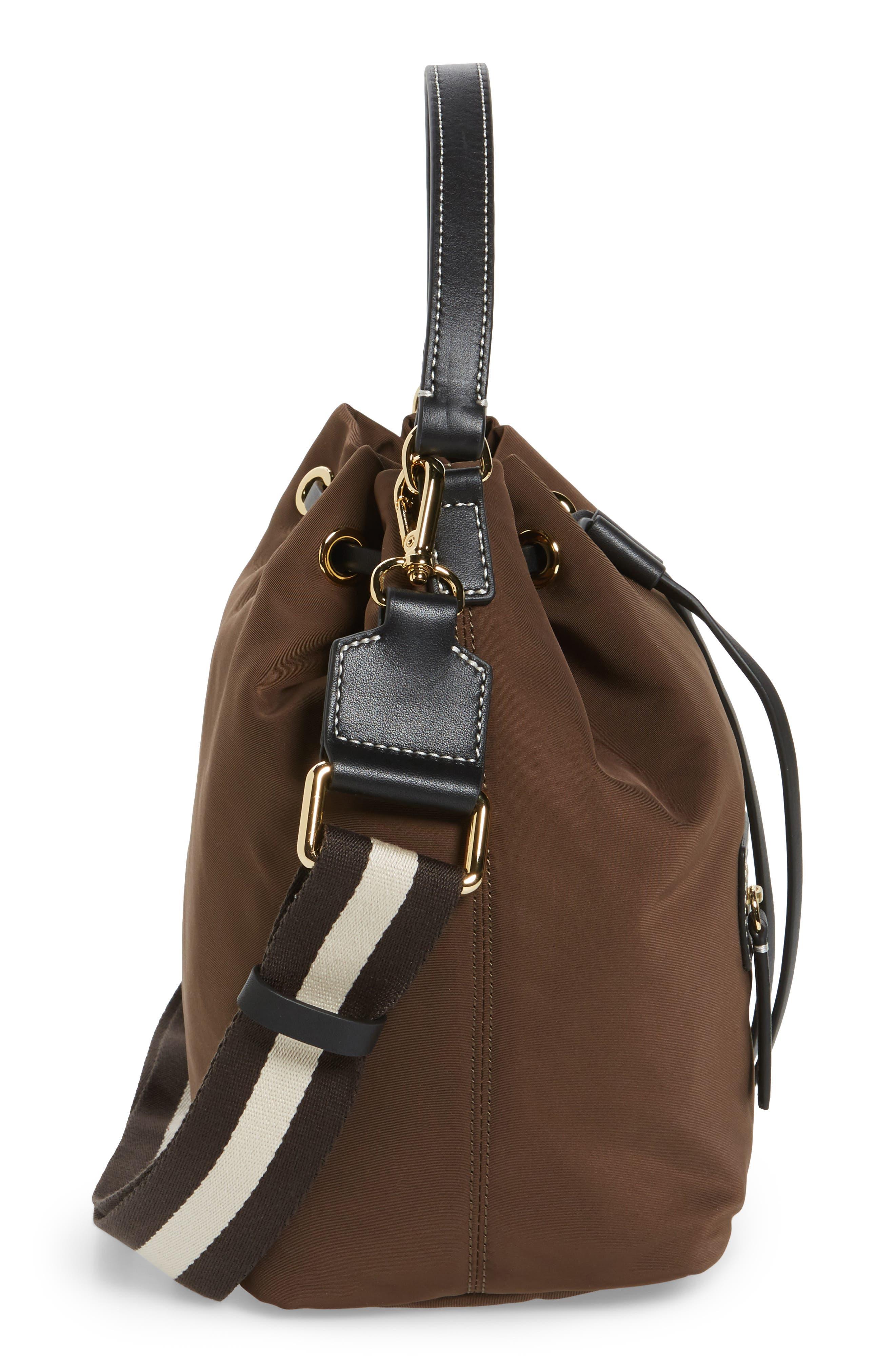 Medium Ann Nylon Bucket Bag,                             Alternate thumbnail 10, color,