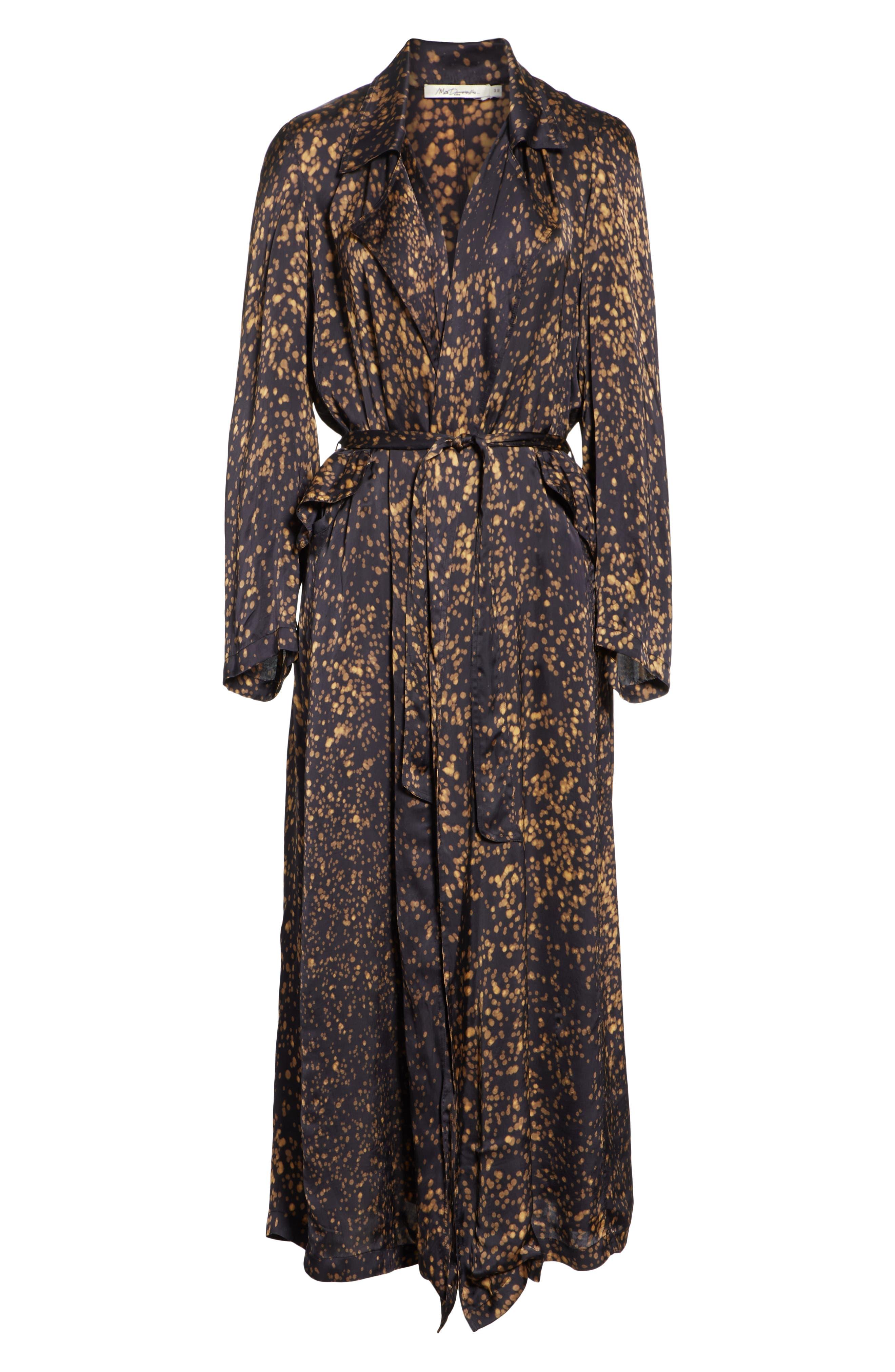Gabriel Trench Coat,                             Alternate thumbnail 5, color,                             BLACK DOT