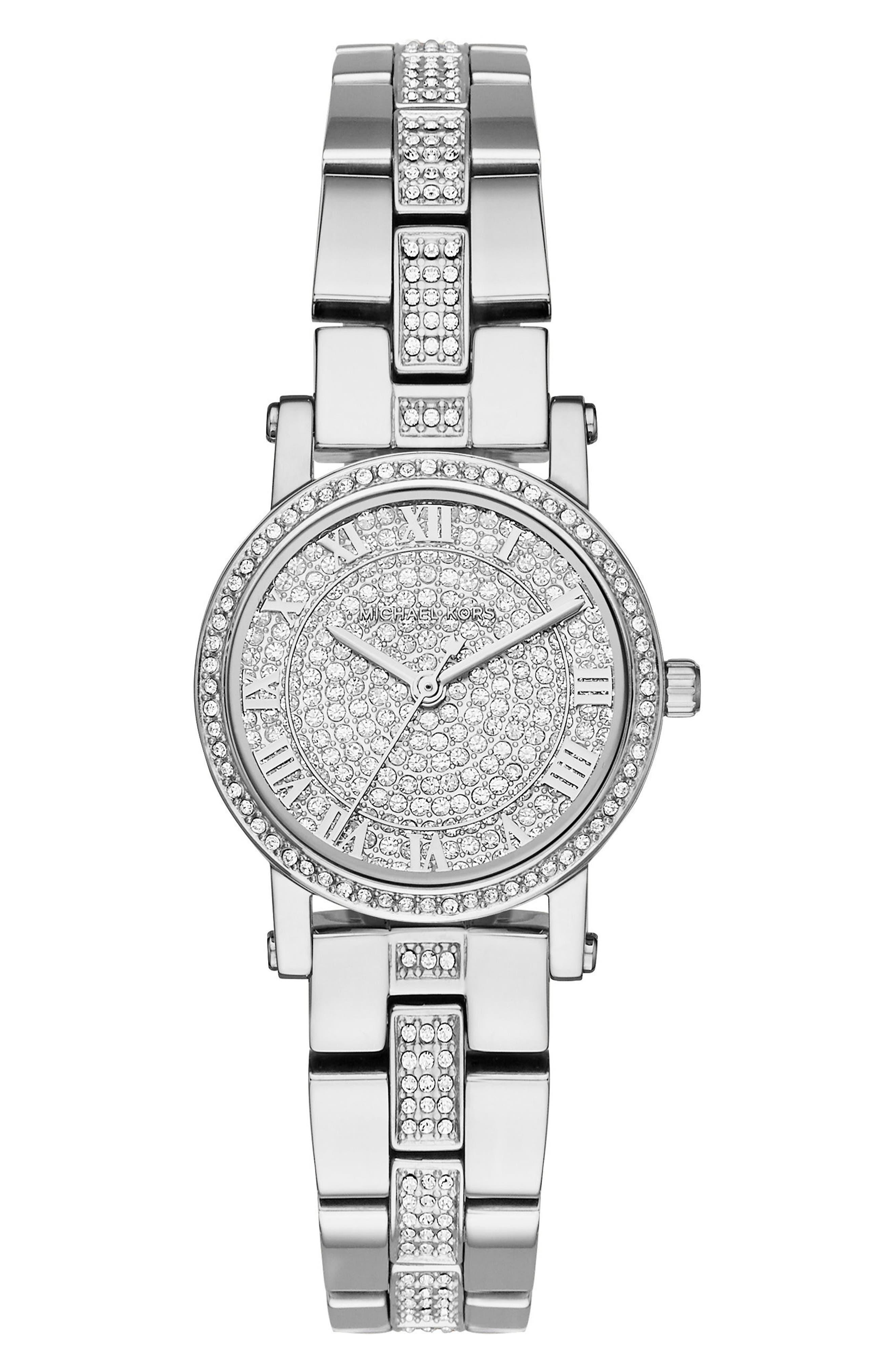 Petite Norie Pavé Bracelet Watch, 28mm,                             Main thumbnail 1, color,                             040