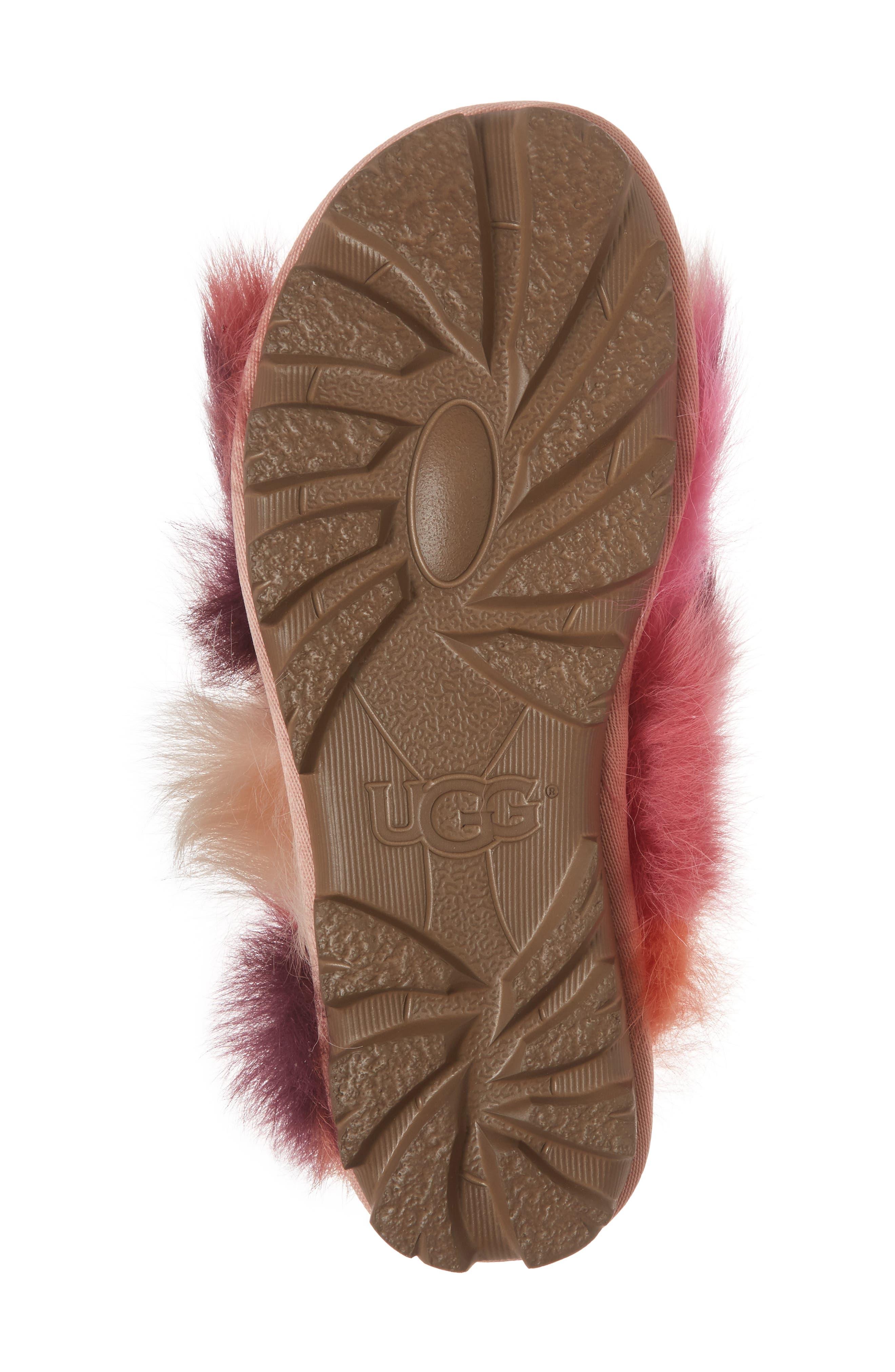 Shag It Crazy Genuine Toscana Shearling Slide Sandal,                             Alternate thumbnail 12, color,