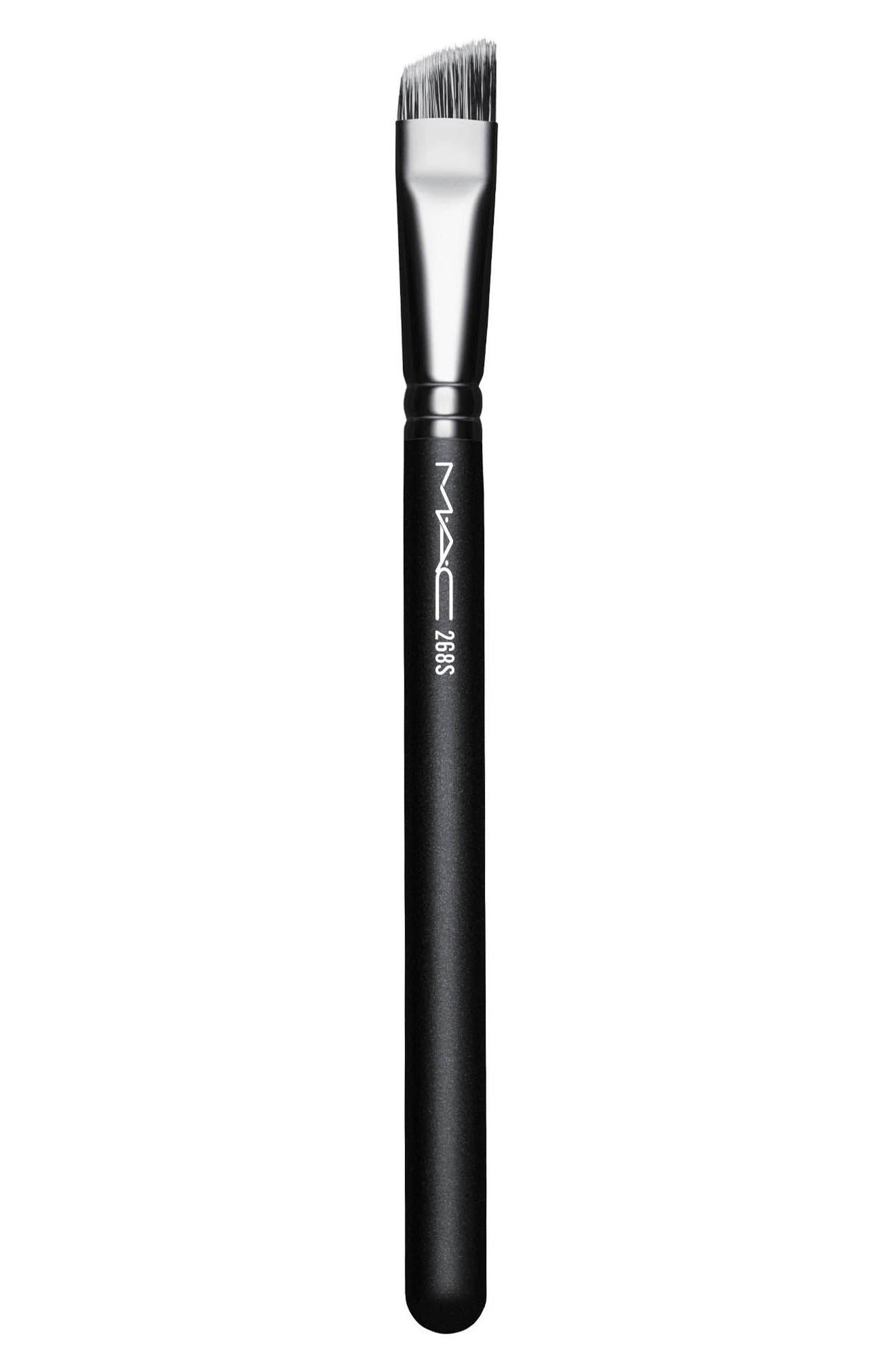 MAC 268S Synthetic Duo Fibre Angle Brush,                             Main thumbnail 1, color,                             NO COLOR