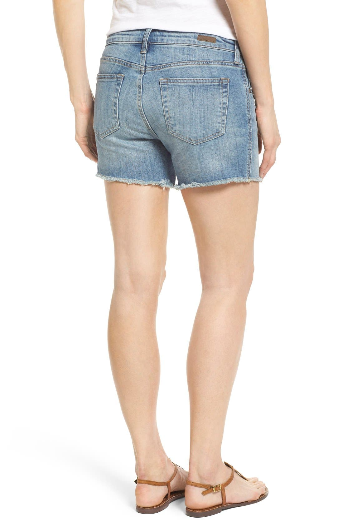 'Gidget' Denim Cutoff Shorts,                             Alternate thumbnail 6, color,                             420