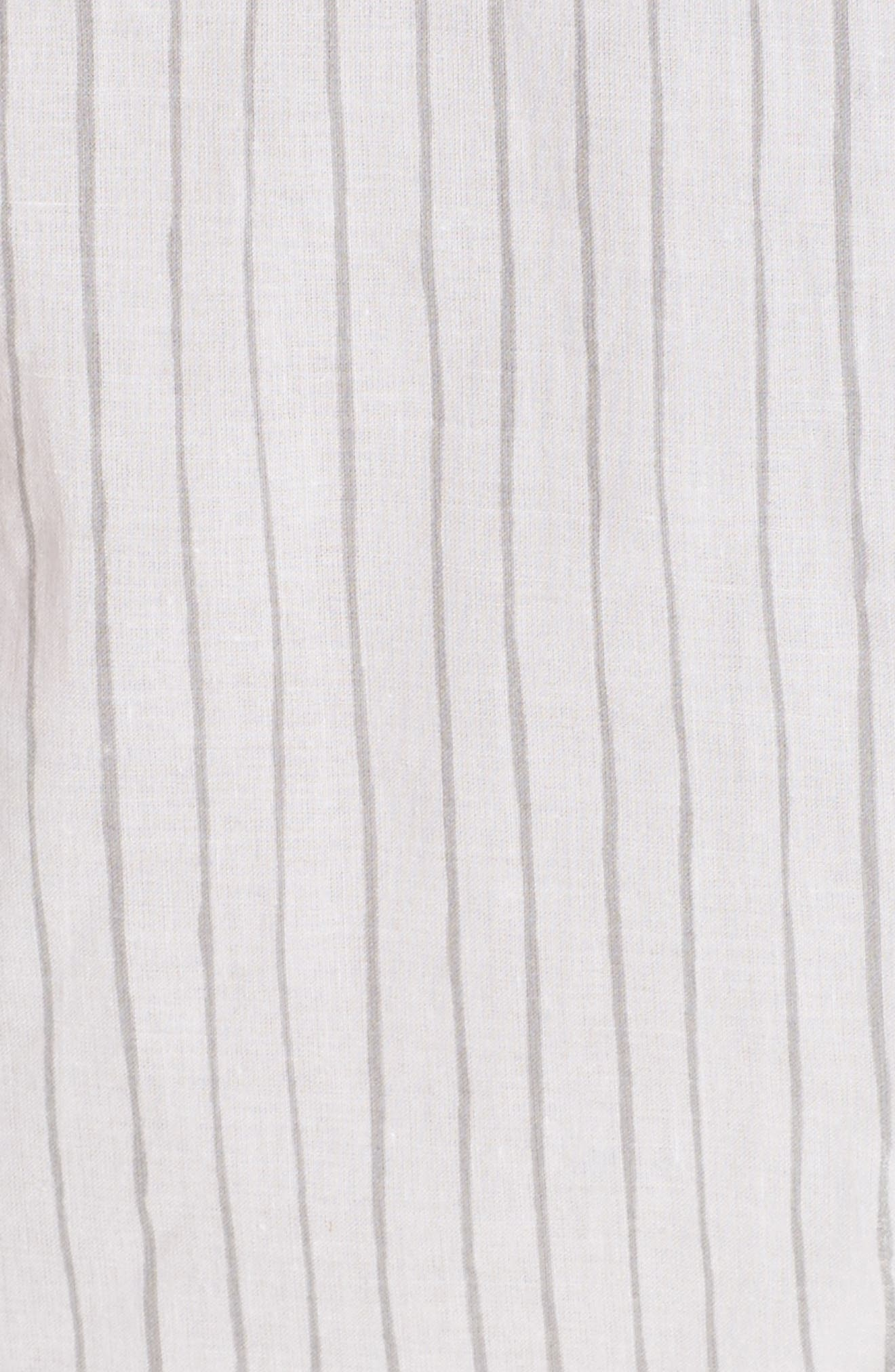 Pinstripe Robe,                             Alternate thumbnail 5, color,                             020