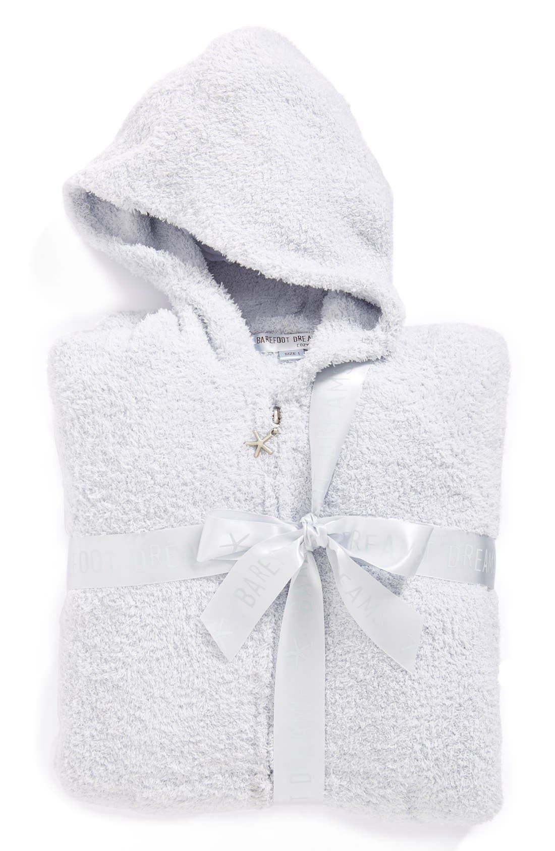 CozyChic<sup>®</sup> Hooded Zip Robe,                             Alternate thumbnail 7, color,                             BLUE