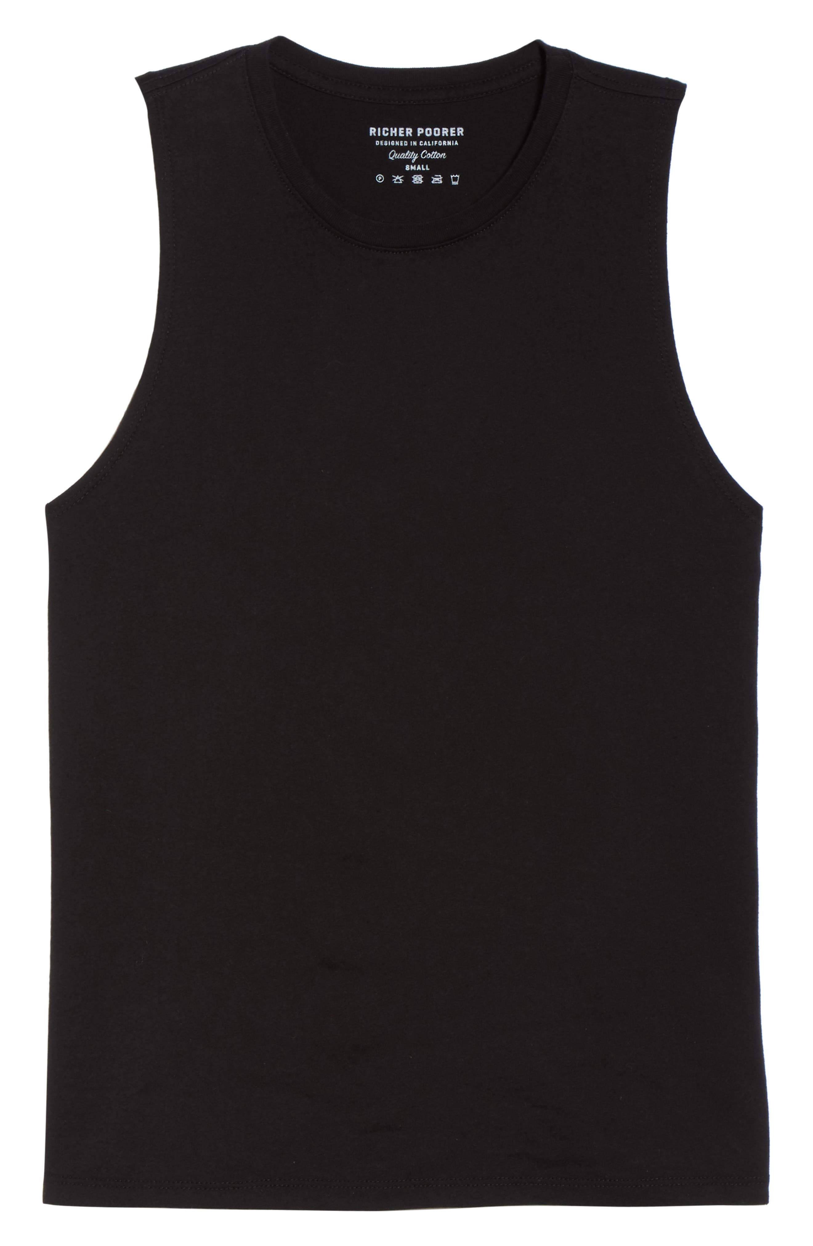 Muscle Tank,                             Alternate thumbnail 6, color,                             BLACK