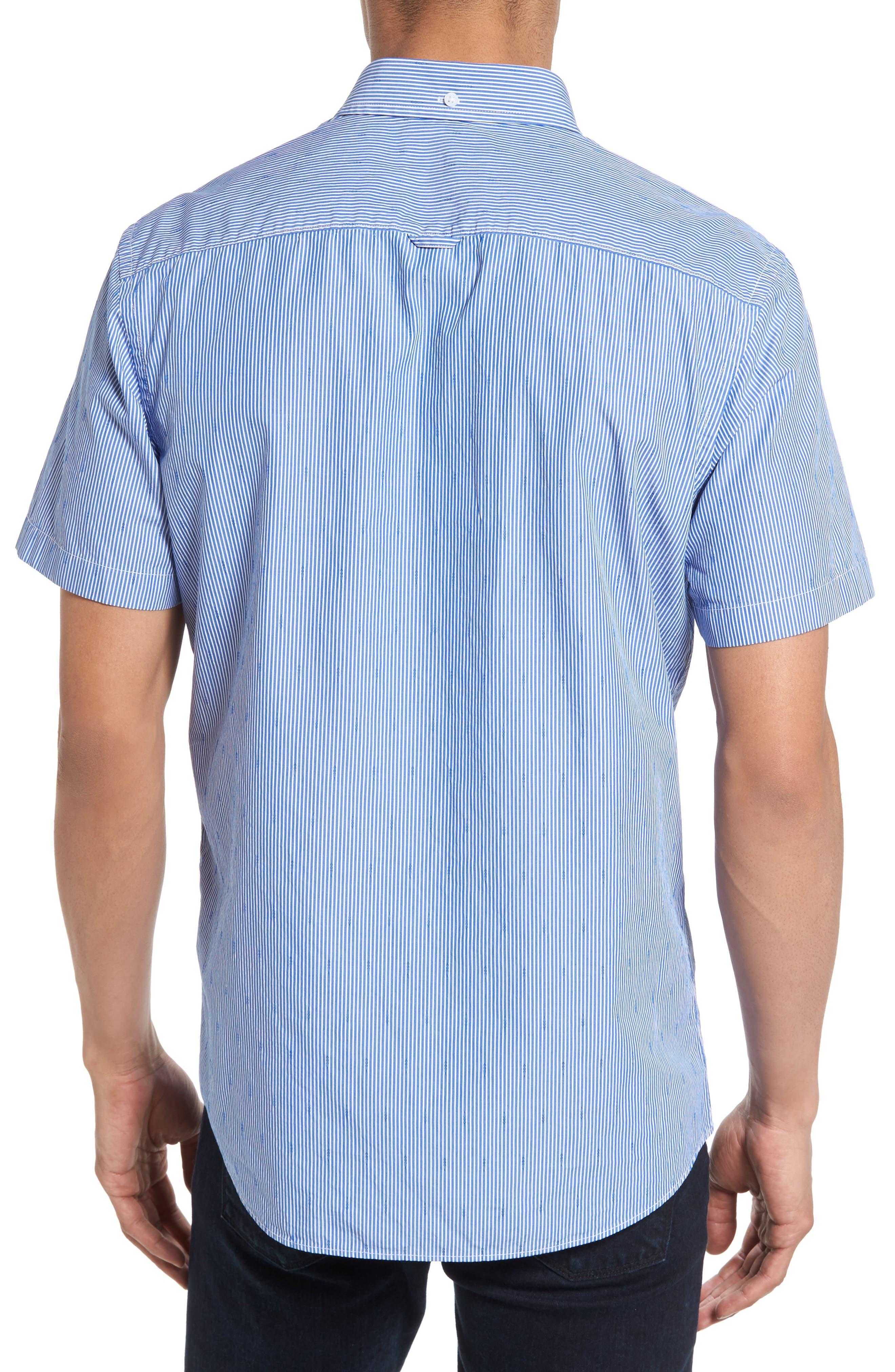 Slim Fit Stripe Sport Shirt,                             Alternate thumbnail 2, color,