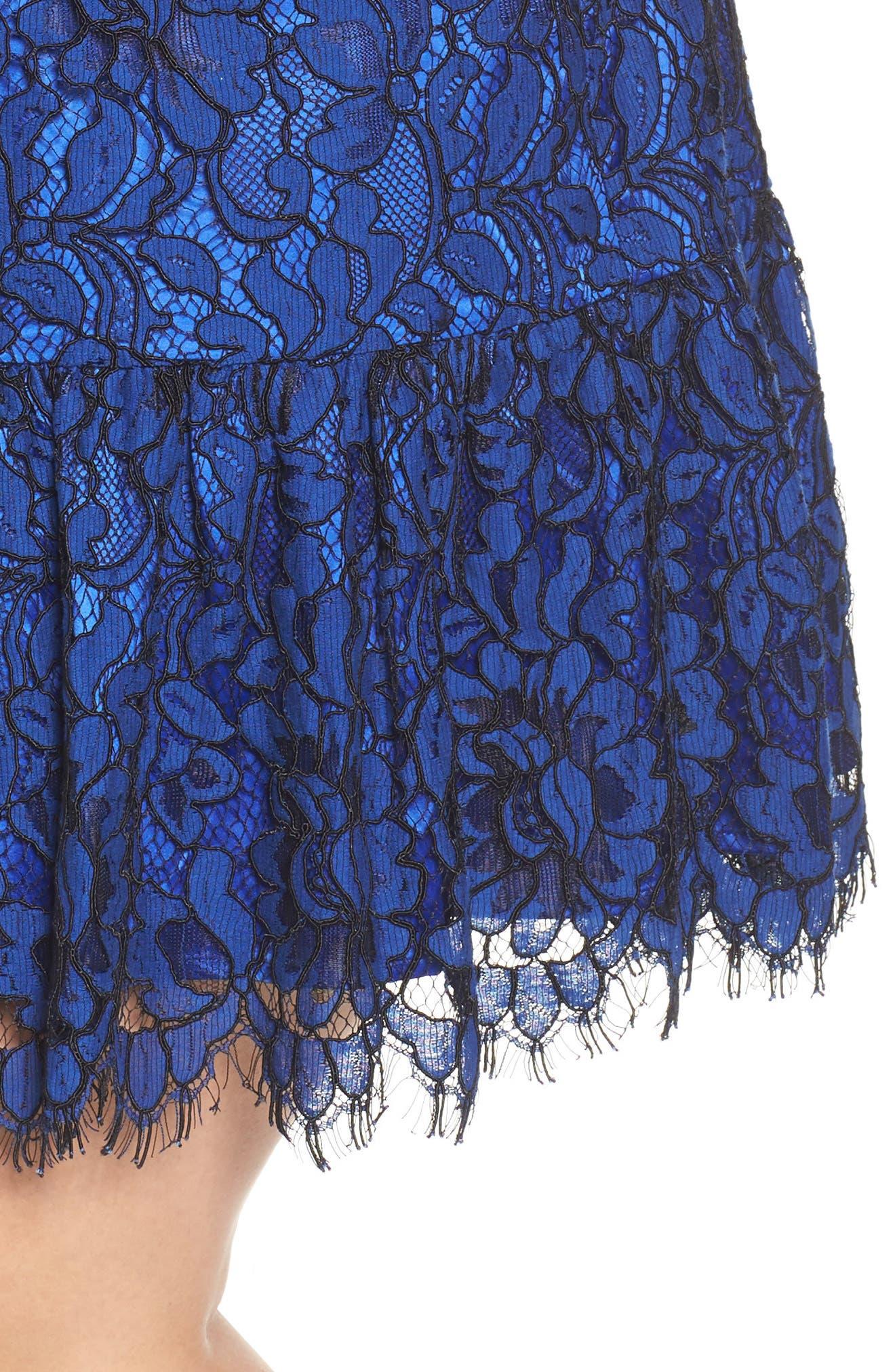 Lace Cold Shoulder Dress,                             Alternate thumbnail 4, color,                             430