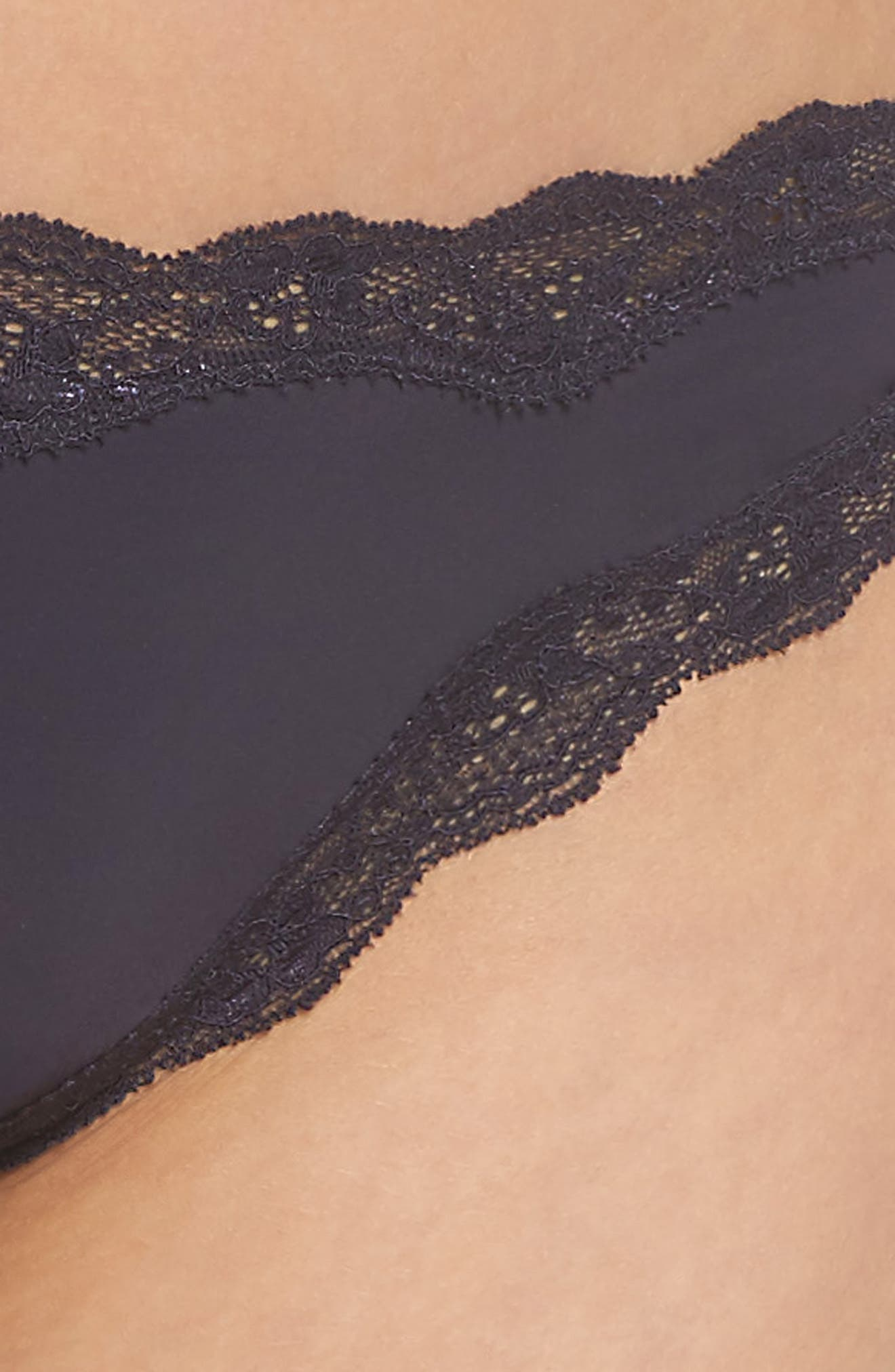 Lace Trim Thong,                             Alternate thumbnail 56, color,