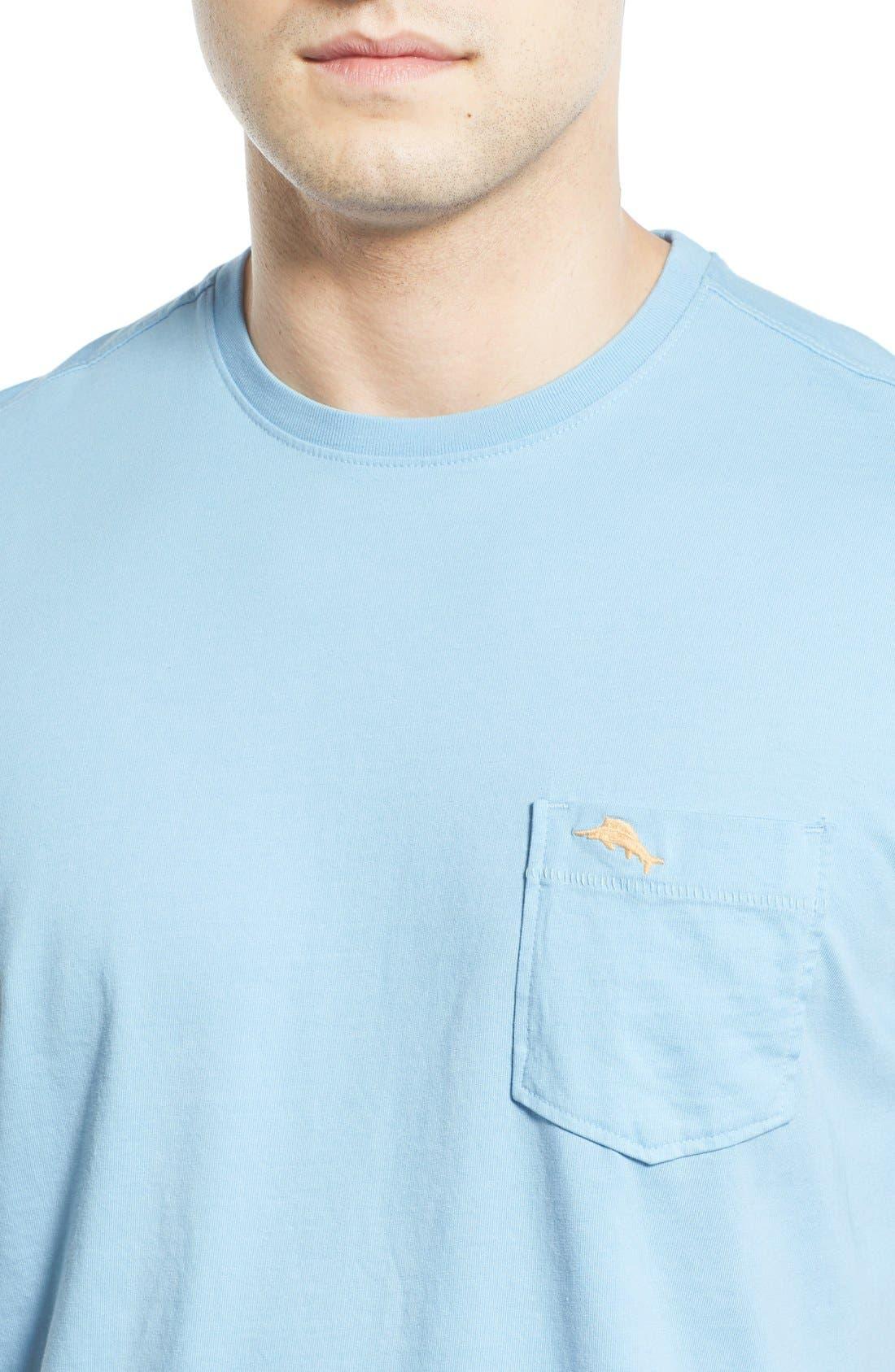 New Bali Sky Pima Cotton Pocket T-Shirt,                             Alternate thumbnail 92, color,