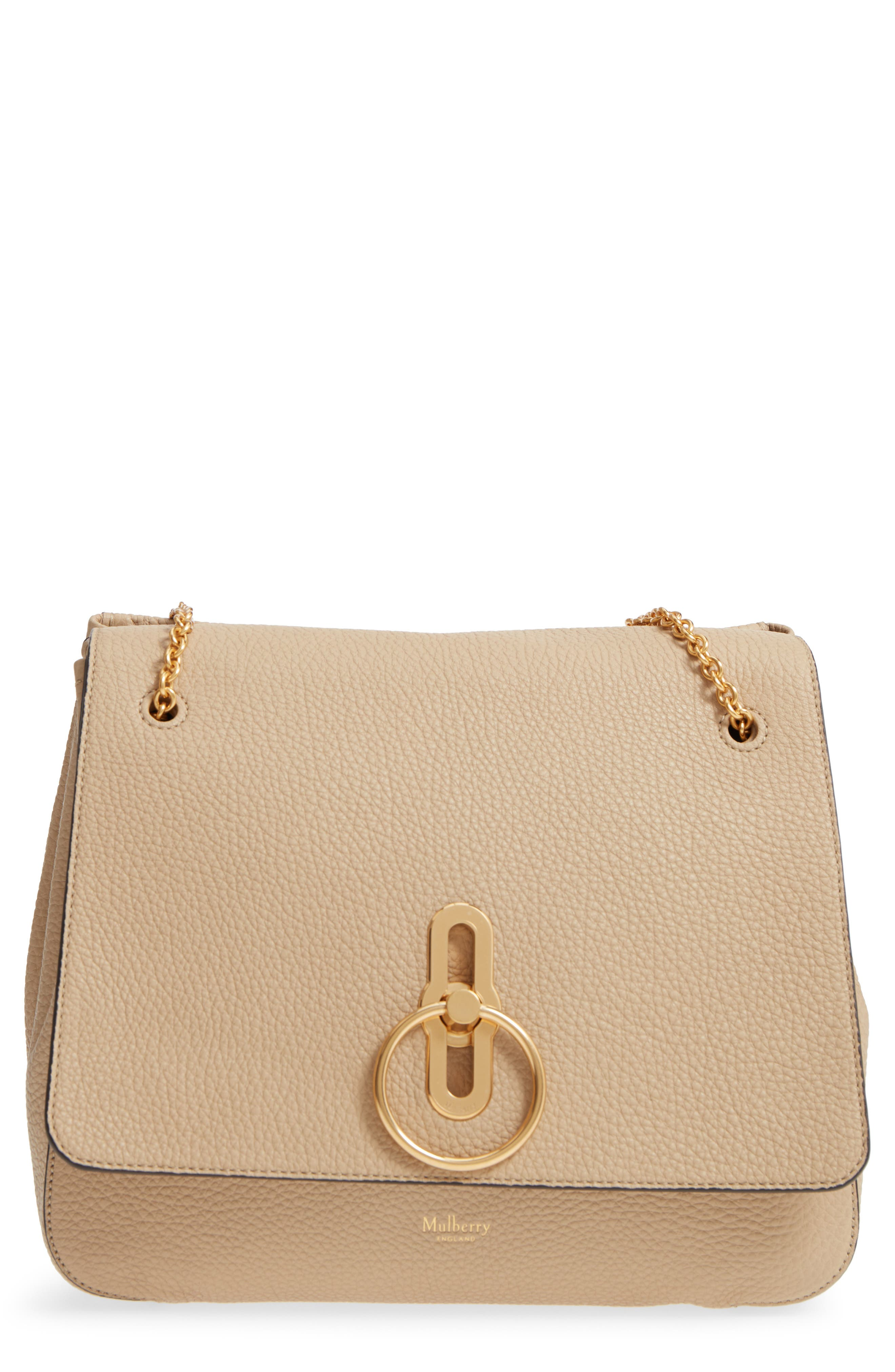 Marloes Grained Calfskin Leather Satchel,                         Main,                         color, LIGHT DUNE