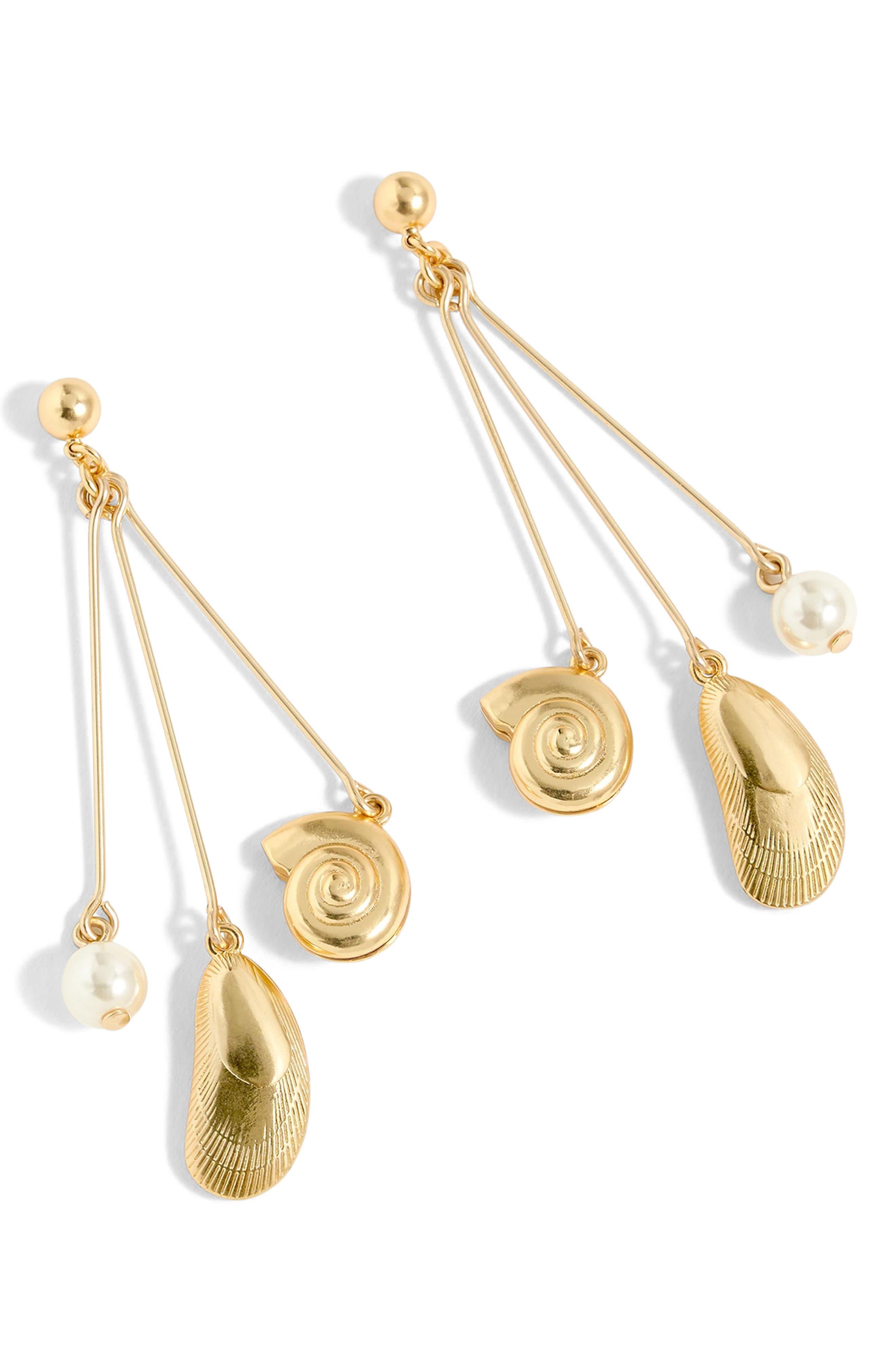 Seashell Drop Earrings,                             Main thumbnail 1, color,