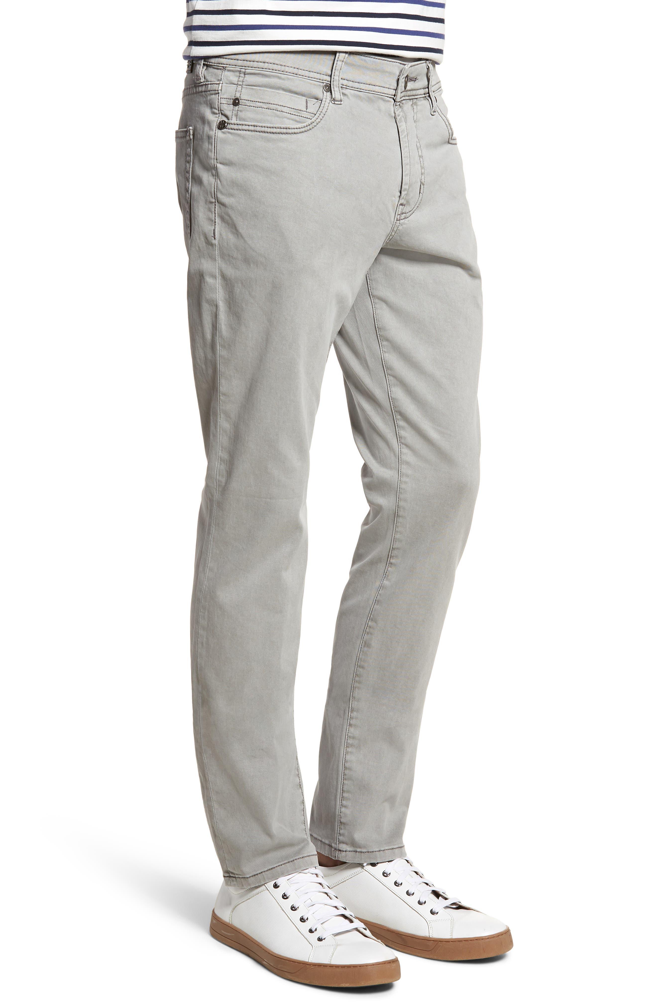 LIVERPOOL,                             Regent Relaxed Straight Leg Twill Pants,                             Alternate thumbnail 3, color,                             SHARKSKIN