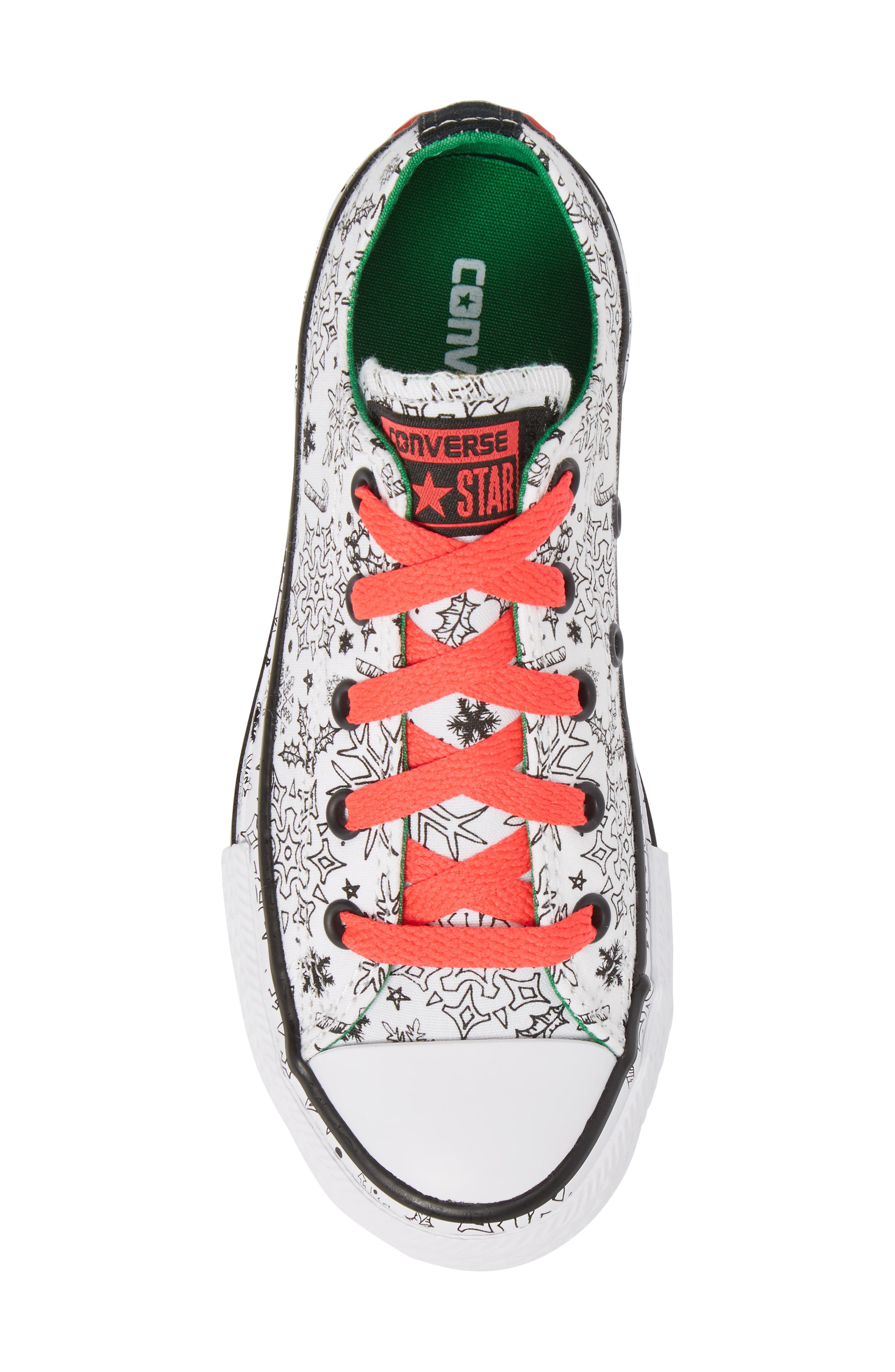 Chuck Taylor<sup>®</sup> All Star<sup>®</sup> Christmas Coloring Book Ox Sneaker,                             Alternate thumbnail 5, color,
